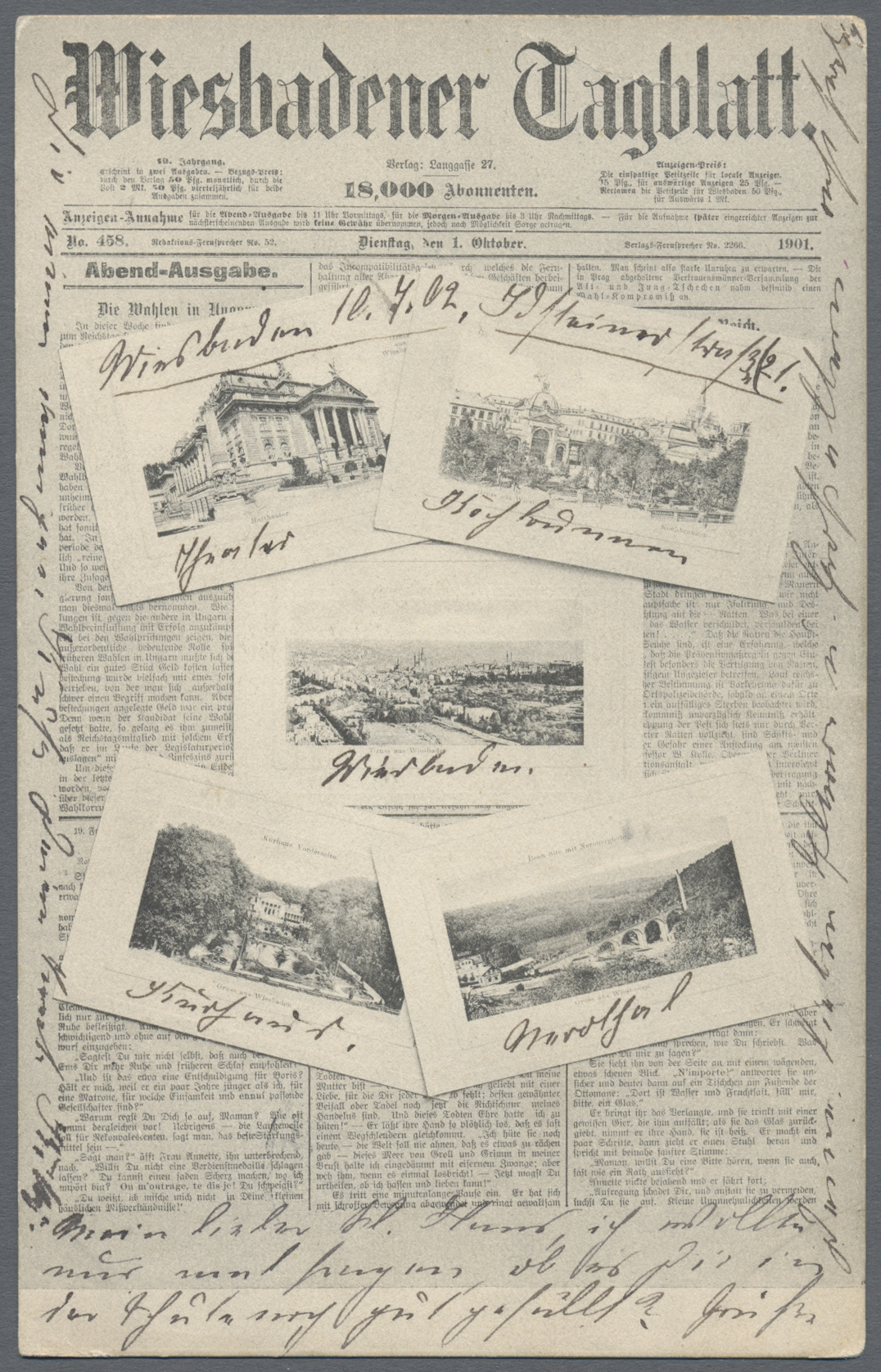 Lot 04549 - Ansichtskarten: Hessen  -  Auktionshaus Christoph Gärtner GmbH & Co. KG Sale #48 The Coins & The Picture Post Cards