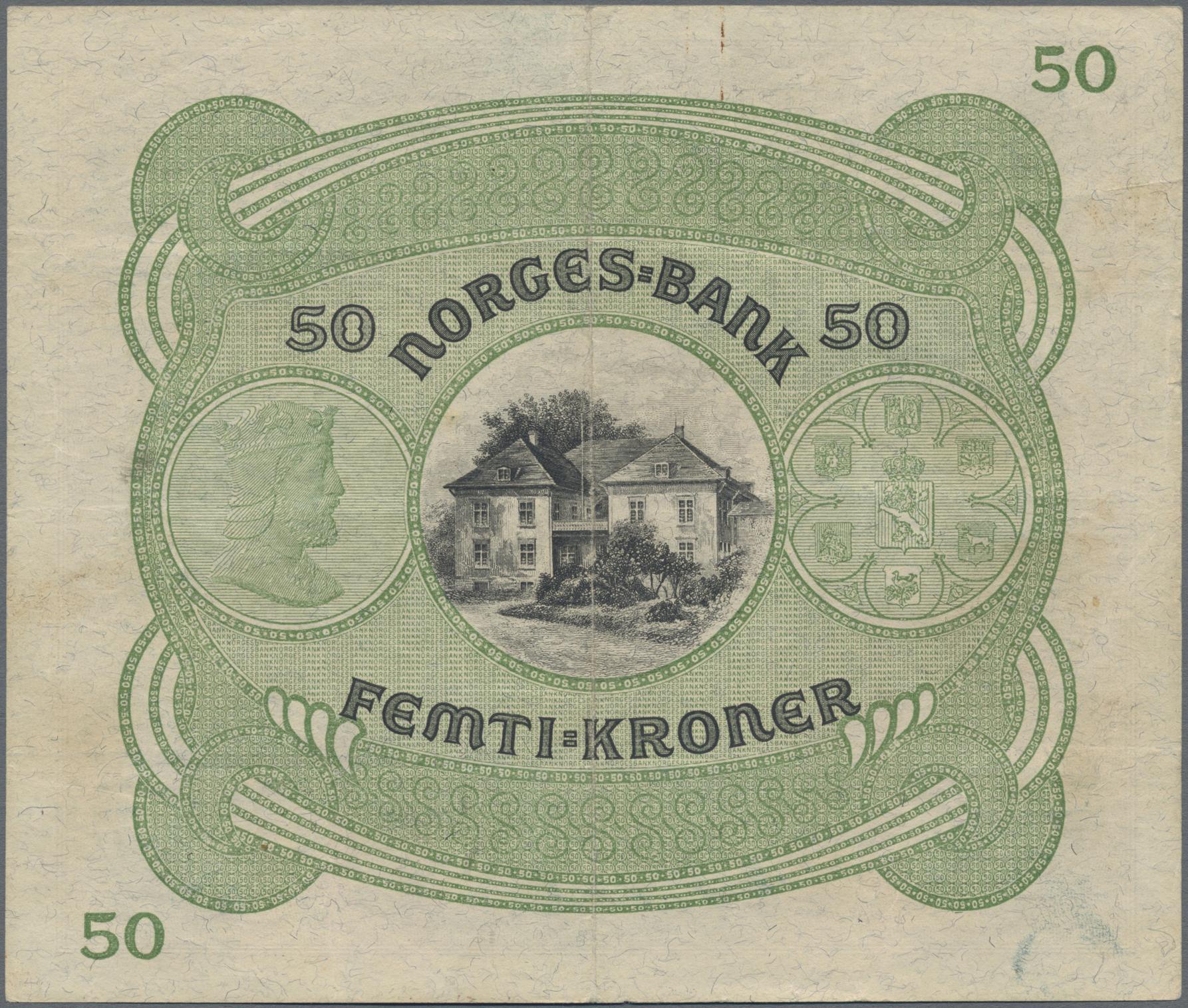 Lot 00571 - Norway / Norwegen | Banknoten  -  Auktionshaus Christoph Gärtner GmbH & Co. KG Sale #48 The Banknotes