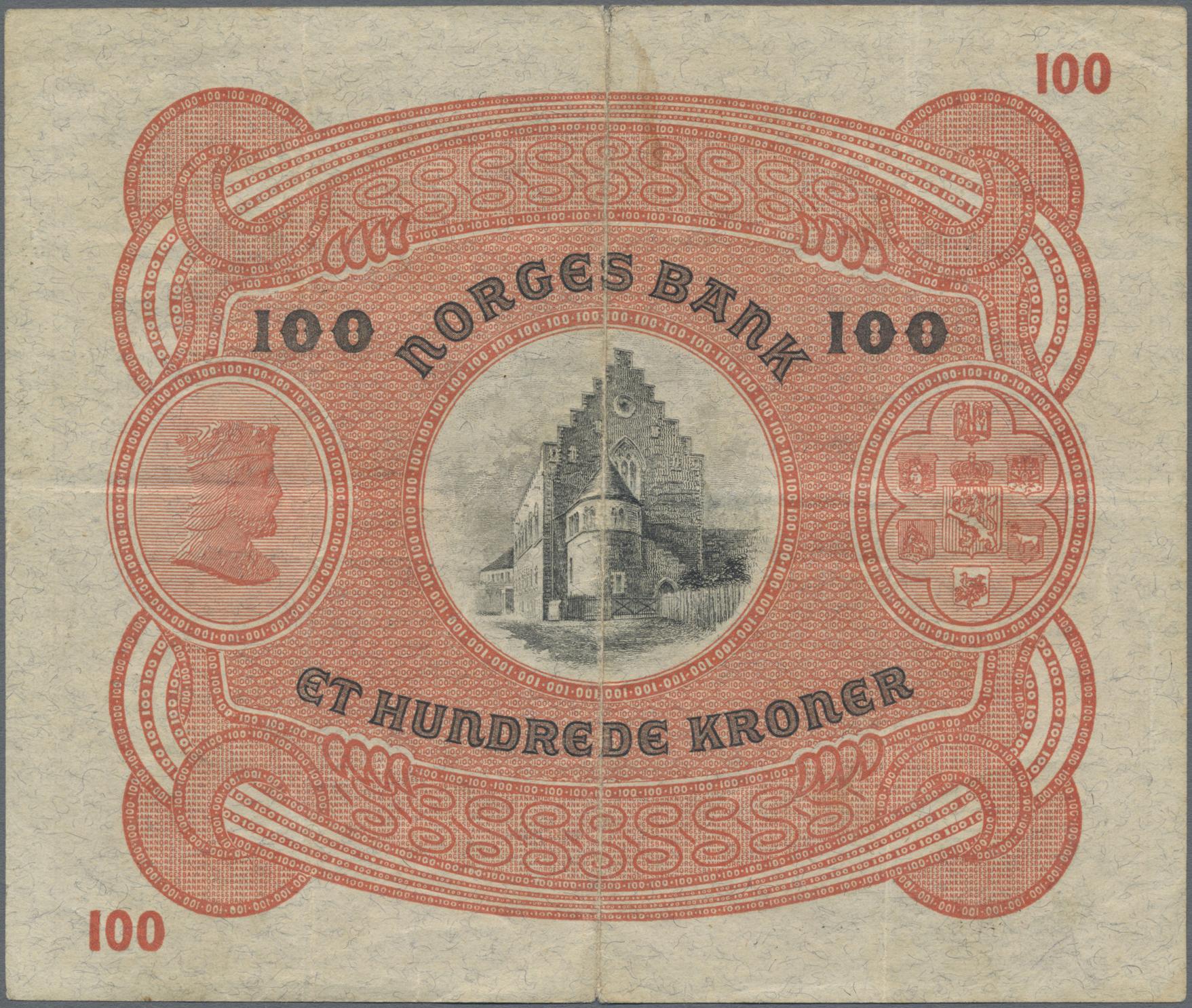Lot 00572 - Norway / Norwegen   Banknoten  -  Auktionshaus Christoph Gärtner GmbH & Co. KG Sale #48 The Banknotes