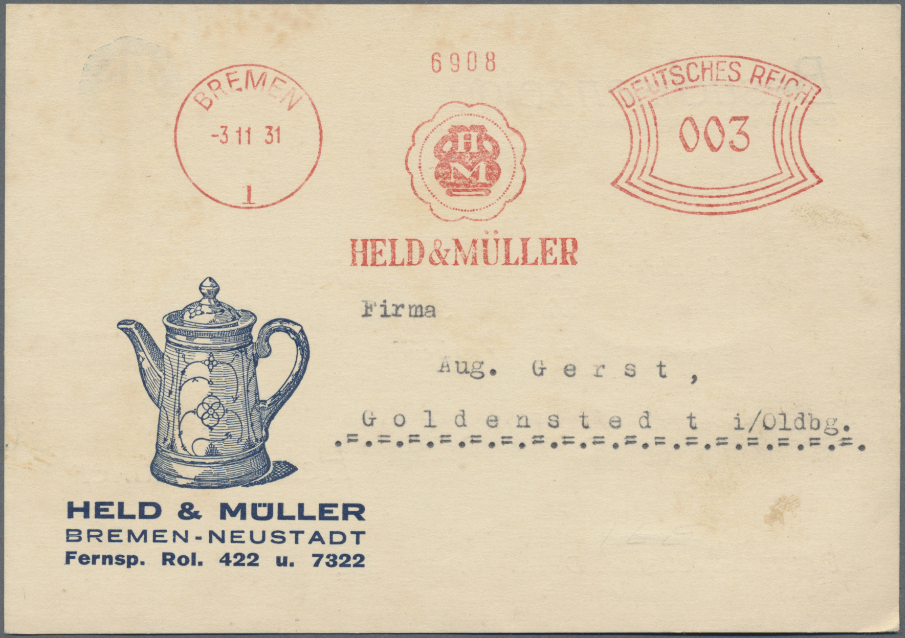 Lot 34846 - Thematik: Nahrung-Kaffee / food-coffee  -  Auktionshaus Christoph Gärtner GmbH & Co. KG Sale #44 Collections Germany