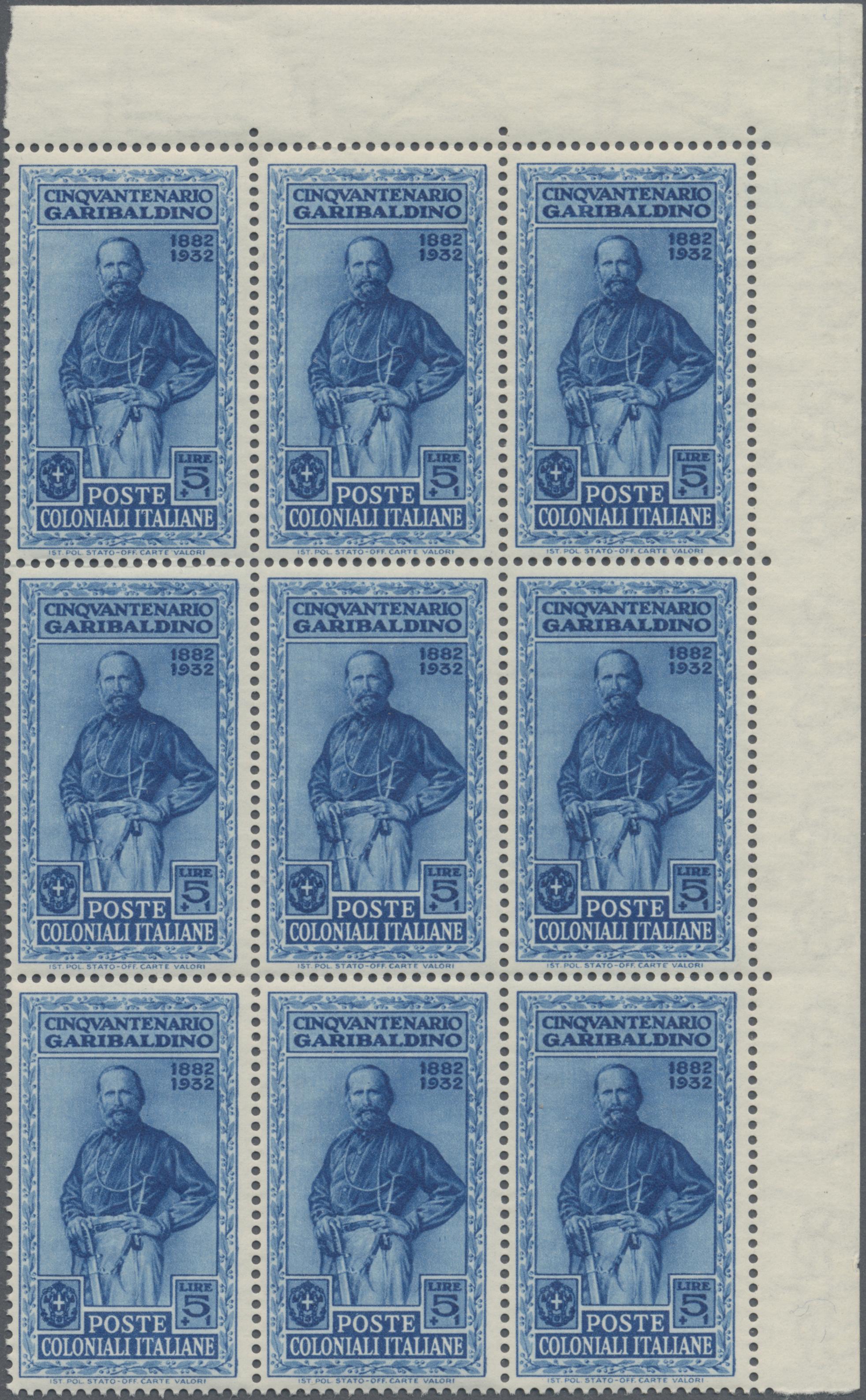 Lot 34673 - Italienische Kolonien - Gemeinschaftsausgaben  -  Auktionshaus Christoph Gärtner GmbH & Co. KG Sale #44 Collections Germany