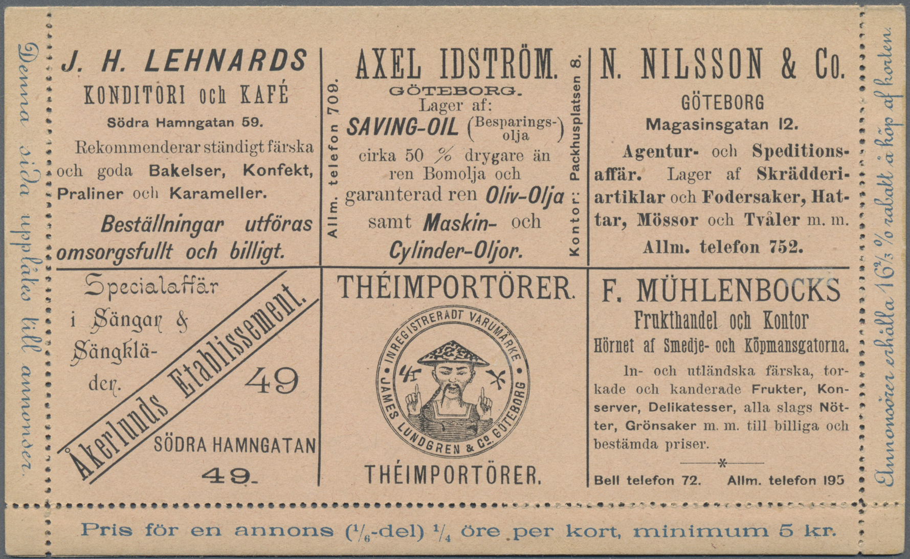 Lot 34850 - Thematik: Nahrung-Tee / food-tea  -  Auktionshaus Christoph Gärtner GmbH & Co. KG Sale #44 Collections Germany