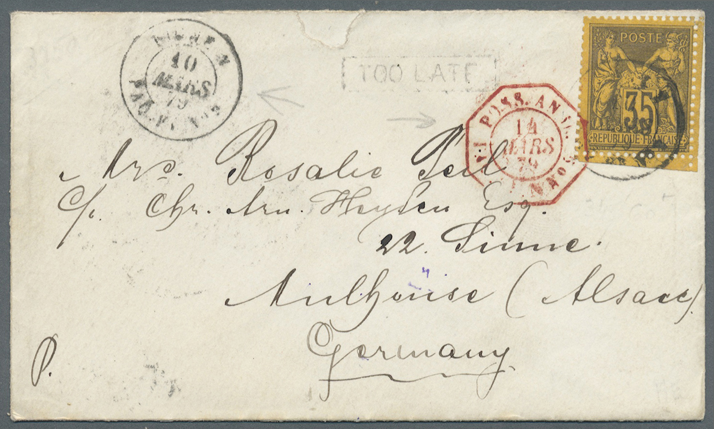 Lot 07113 - aden  -  Auktionshaus Christoph Gärtner GmbH & Co. KG Sale #43 Asia, Overseas, Air & Ships, Mail, Spain, Day 4