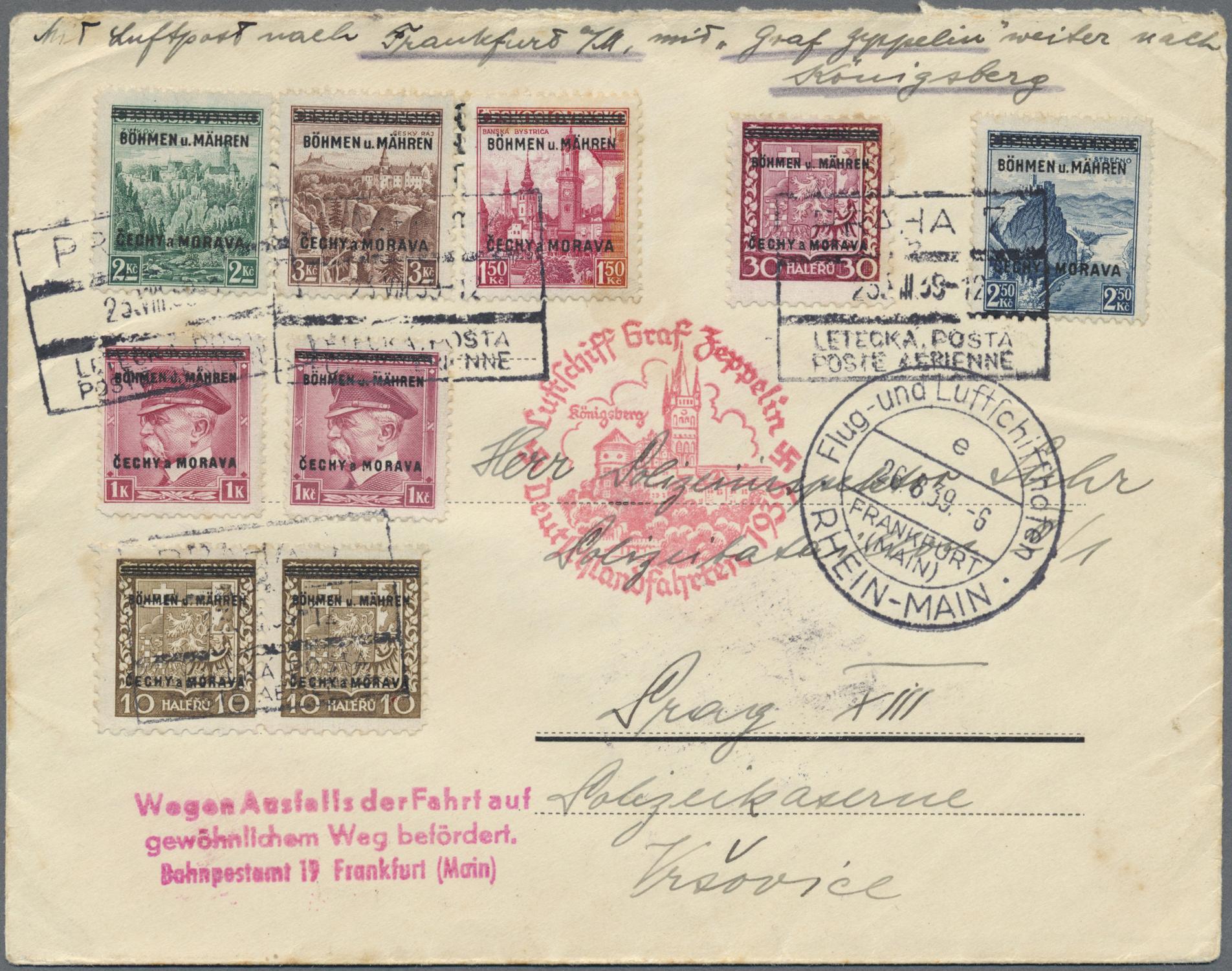 Lot 1384 - Dt. Besetzung II WK - Böhmen und Mähren  -  Auktionshaus Christoph Gärtner GmbH & Co. KG Auction #41 Special auction part two