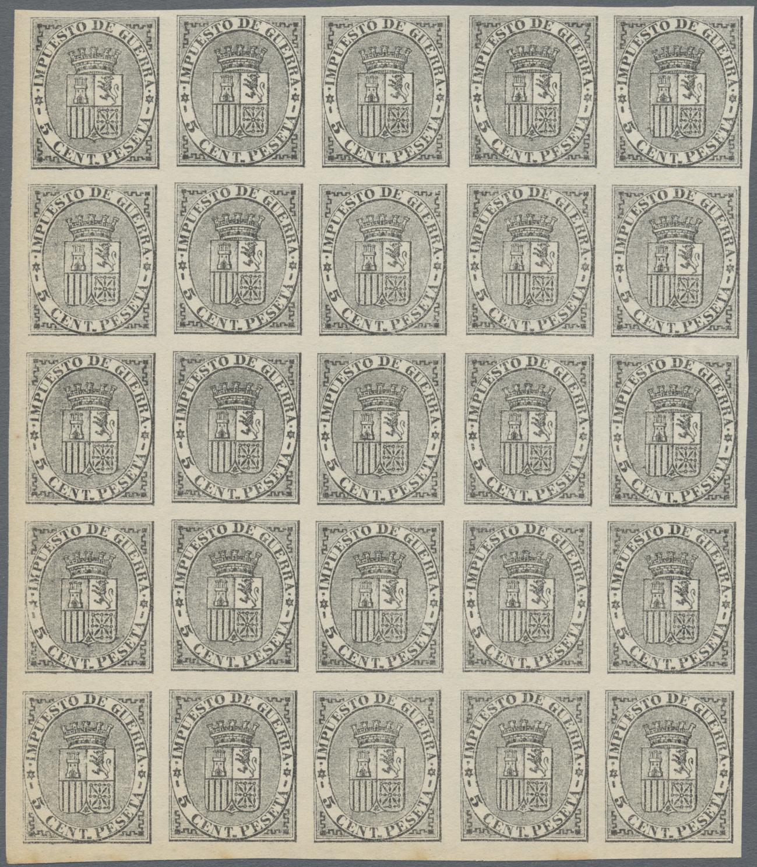 Lot 25792 - Spanien - Zwangszuschlagsmarken Kriegssteuermarken  -  Auktionshaus Christoph Gärtner GmbH & Co. KG Sale #46 Collections Worldwide
