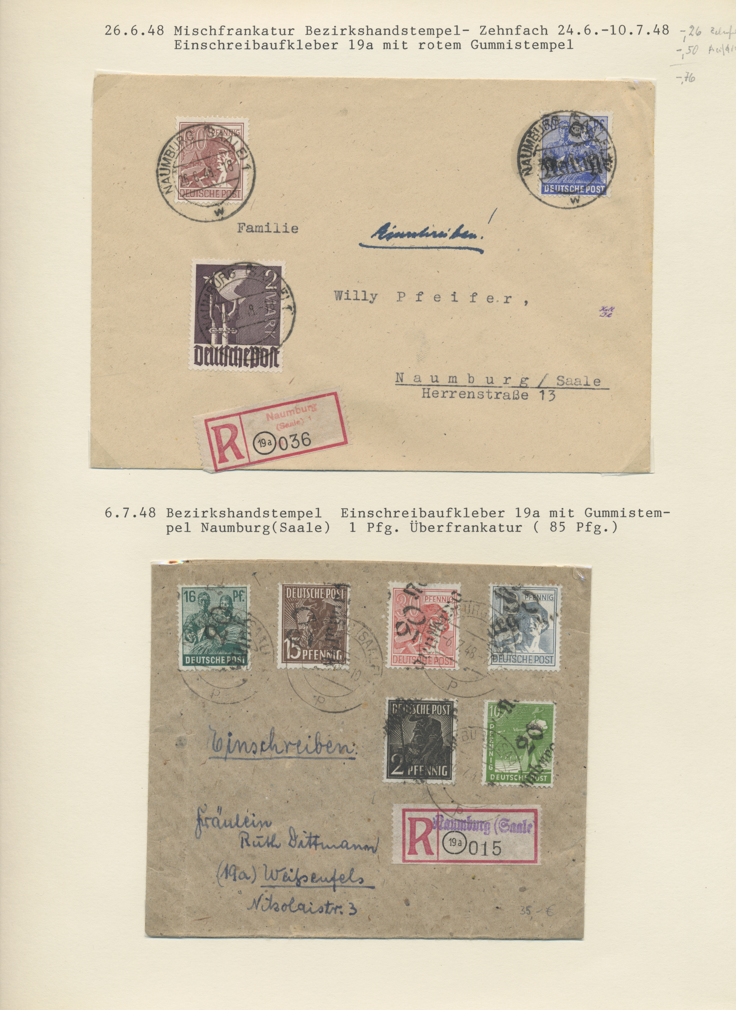 Lot 37293 - sowjetische zone  -  Auktionshaus Christoph Gärtner GmbH & Co. KG Sale #44 Collections Germany