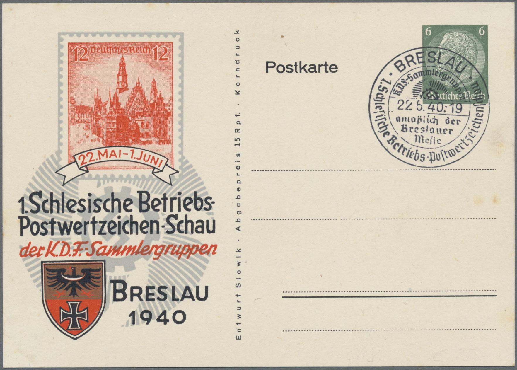 Lot 23550 - Deutsches Reich - Privatganzsachen  -  Auktionshaus Christoph Gärtner GmbH & Co. KG Sale #49 Collections Overseas, Thematics, Europe, Germany/Estates