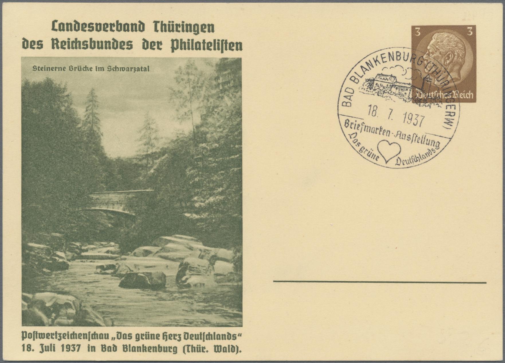 Lot 23551 - Deutsches Reich - Privatganzsachen  -  Auktionshaus Christoph Gärtner GmbH & Co. KG Sale #49 Collections Overseas, Thematics, Europe, Germany/Estates