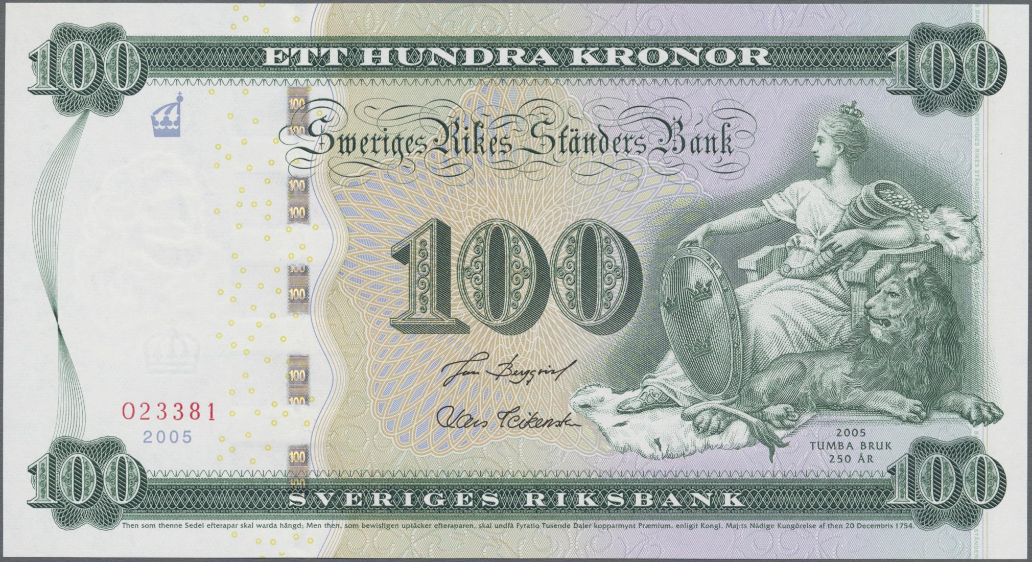 Lot 00861 - Sweden / Schweden | Banknoten  -  Auktionshaus Christoph Gärtner GmbH & Co. KG Sale #48 The Banknotes