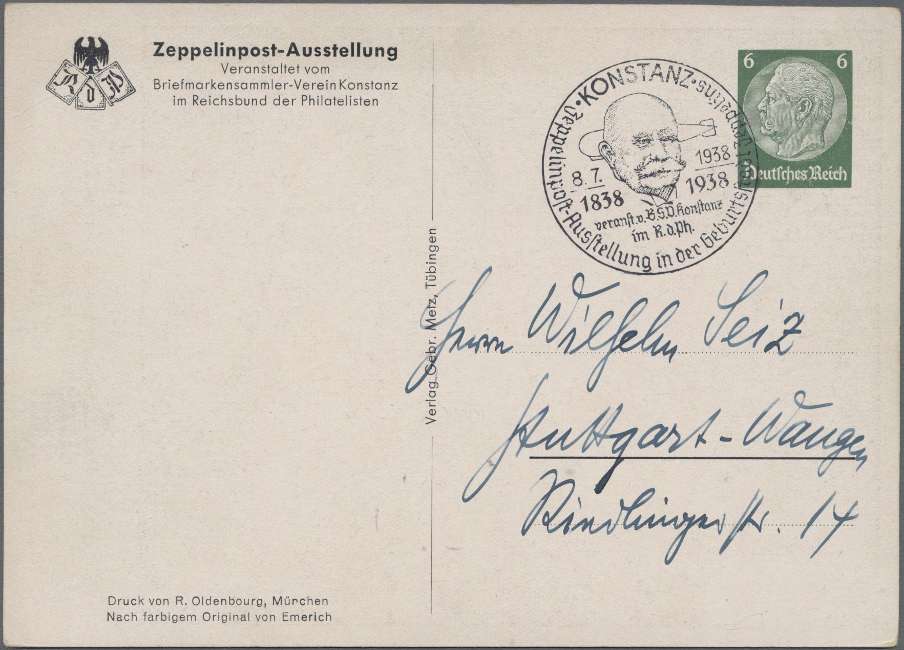Lot 23549 - Deutsches Reich - Privatganzsachen  -  Auktionshaus Christoph Gärtner GmbH & Co. KG Sale #49 Collections Overseas, Thematics, Europe, Germany/Estates