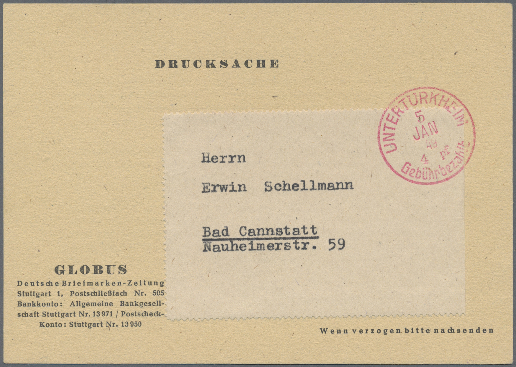 Lot 36579 - württemberg - stempel  -  Auktionshaus Christoph Gärtner GmbH & Co. KG Collections Germany,  Collections Supplement, Surprise boxes #39 Day 7