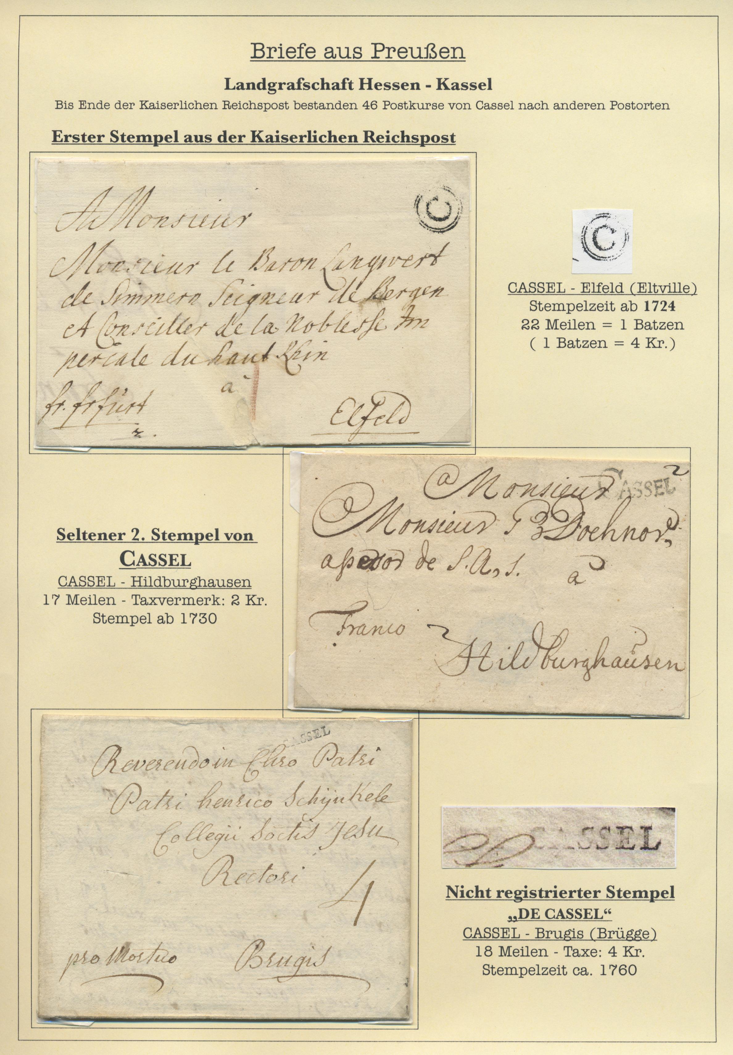 Lot 1123 - Altdeutschland - Vorphila  -  Auktionshaus Christoph Gärtner GmbH & Co. KG Auction #41 Special auction part two