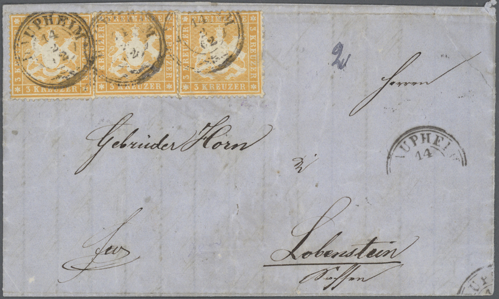 Lot 36516 - Württemberg - Marken und Briefe  -  Auktionshaus Christoph Gärtner GmbH & Co. KG Collections Germany,  Collections Supplement, Surprise boxes #39 Day 7