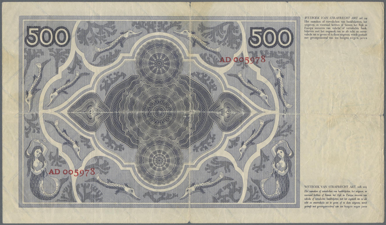 Lot 00555 - Netherlands / Niederlande | Banknoten  -  Auktionshaus Christoph Gärtner GmbH & Co. KG Sale #48 The Banknotes