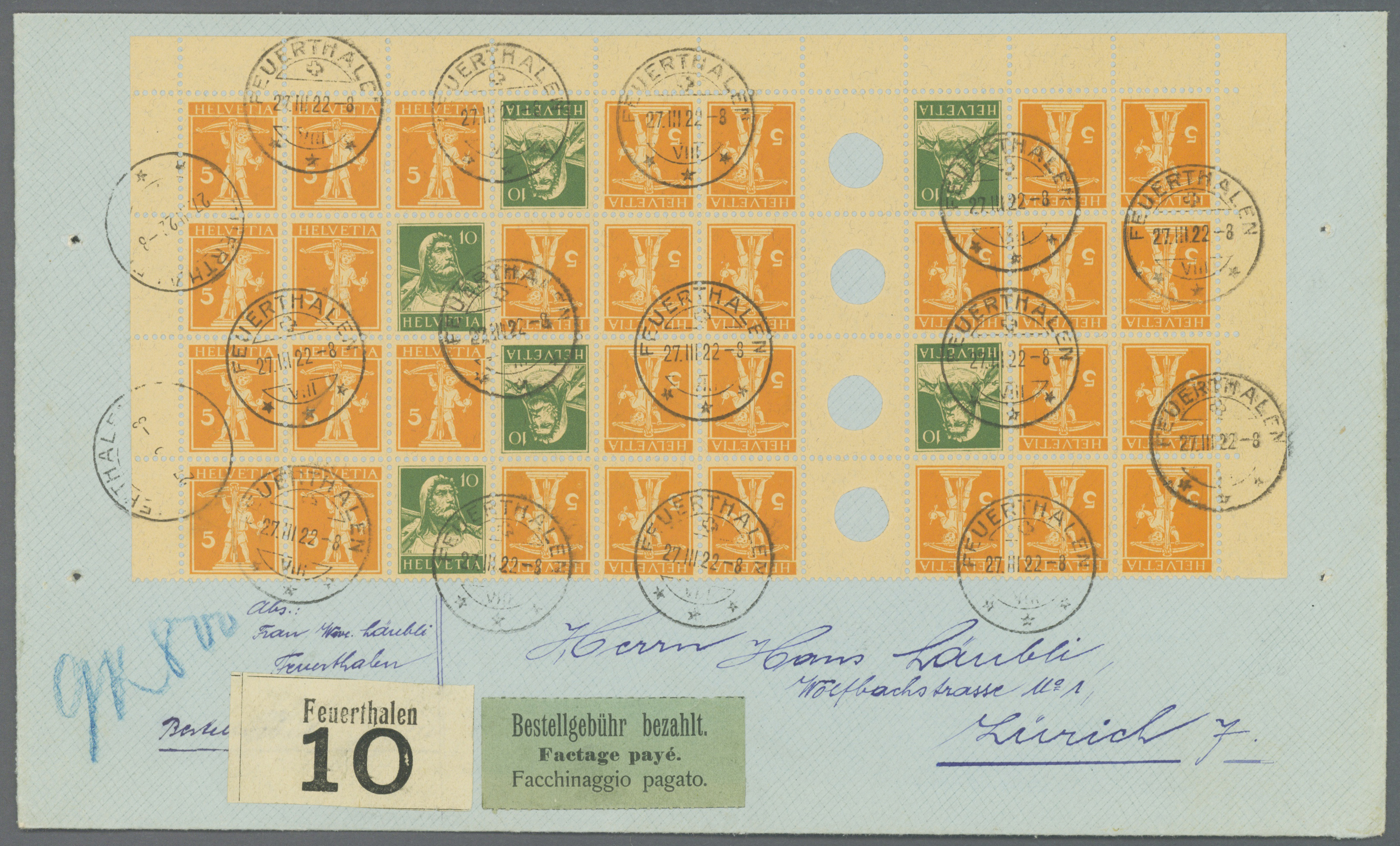 Lot 19039 - schweiz  -  Auktionshaus Christoph Gärtner GmbH & Co. KG Sale #48 collections Overseas  Airmail / Ship mail & Thematics