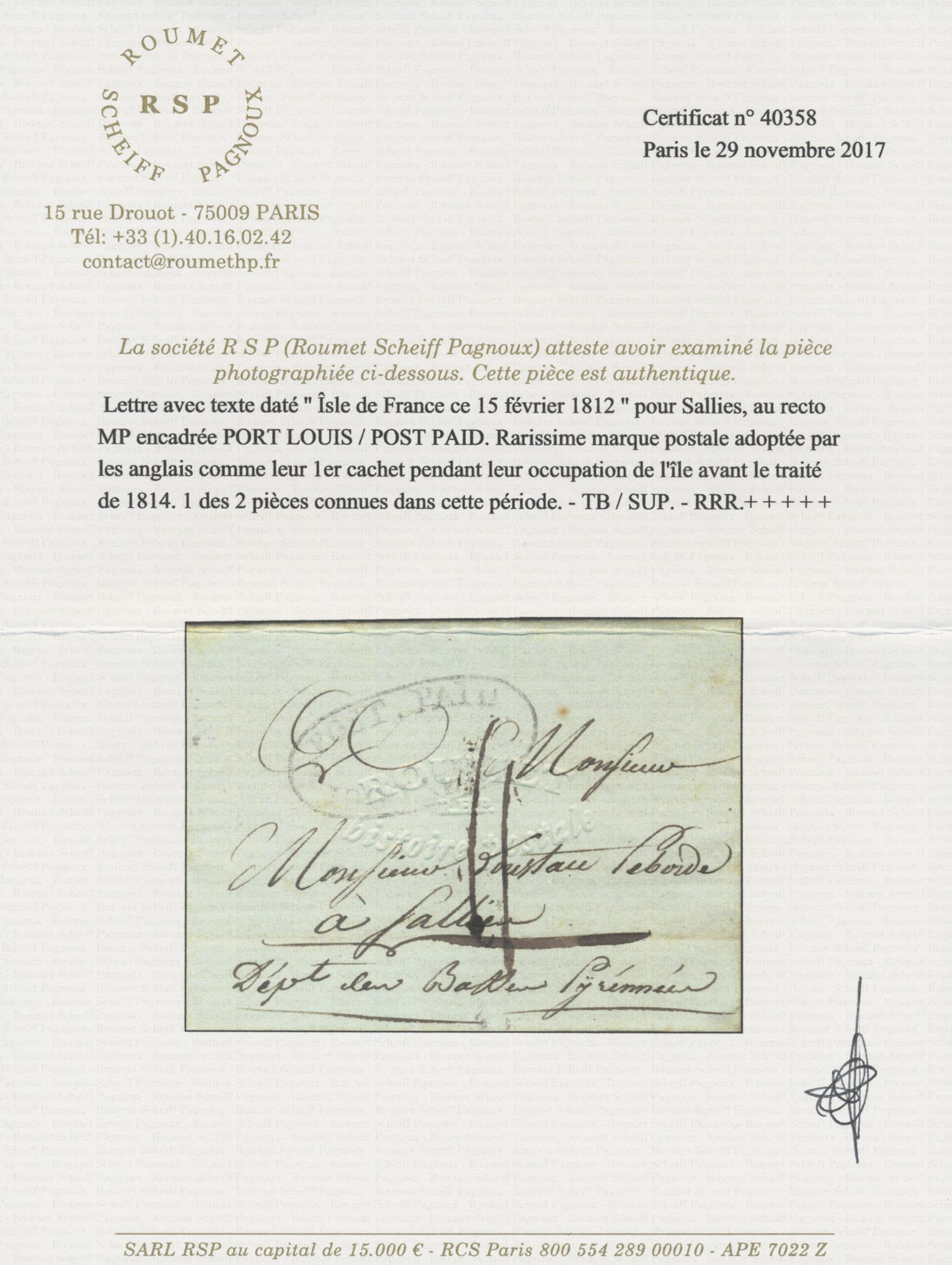 Lot 488 - Mauritius  -  Auktionshaus Christoph Gärtner GmbH & Co. KG Auction #41 Special auction part one