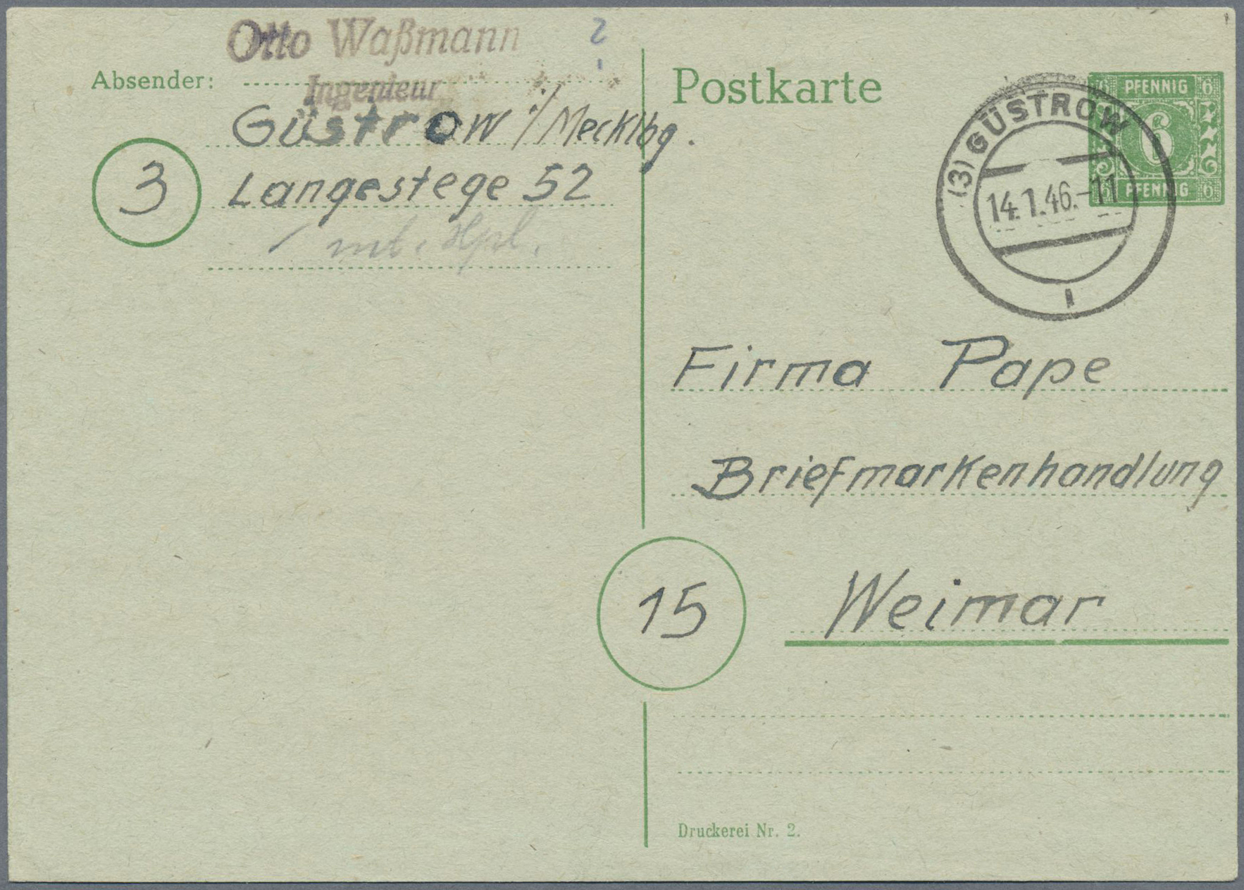 Lot 37952 - Sowjetische Zone - Mecklenburg-Vorpommern  -  Auktionshaus Christoph Gärtner GmbH & Co. KG Collections Germany,  Collections Supplement, Surprise boxes #39 Day 7