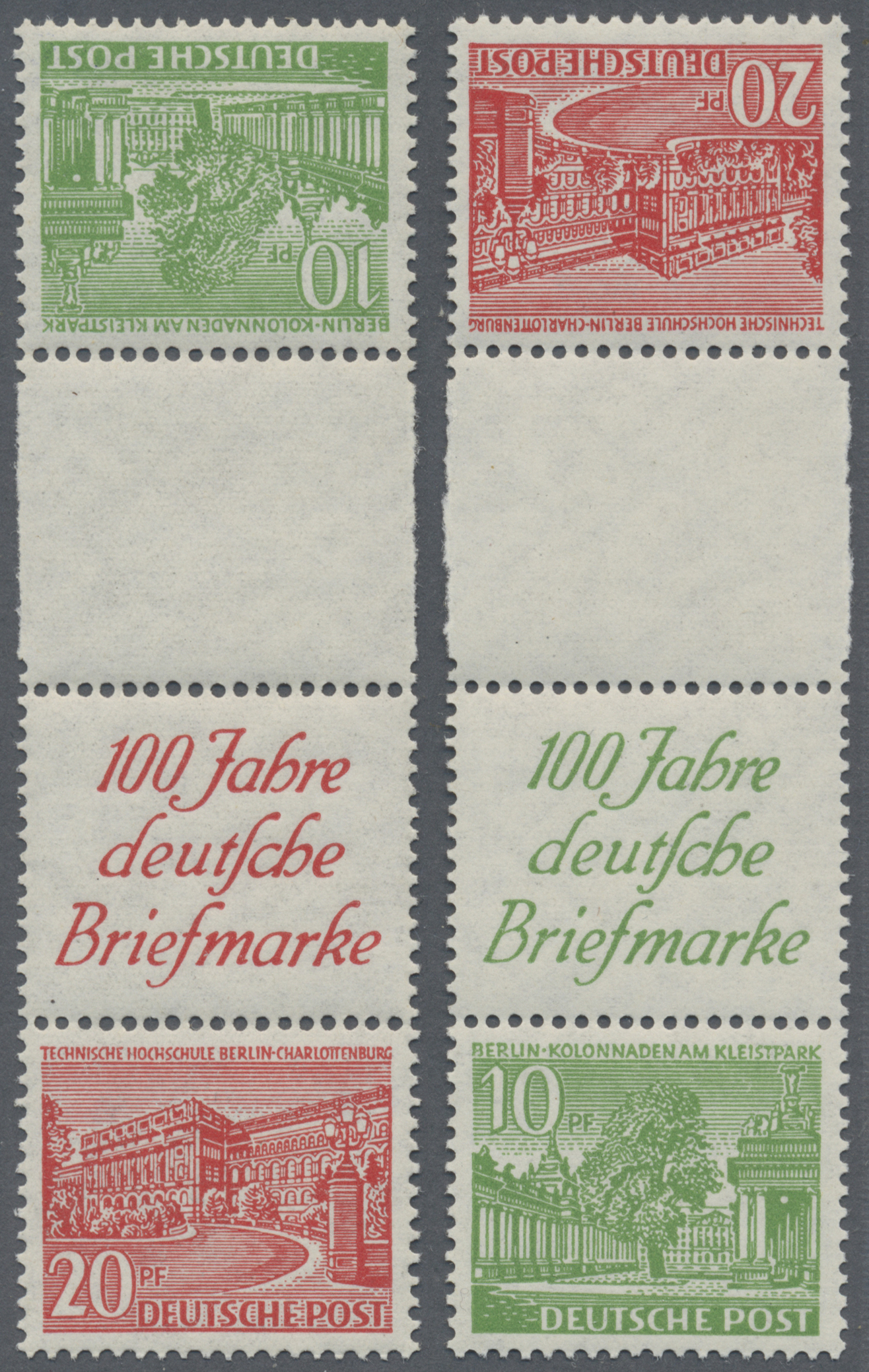 Lot 38212 - berlin - zusammendrucke  -  Auktionshaus Christoph Gärtner GmbH & Co. KG Collections Germany,  Collections Supplement, Surprise boxes #39 Day 7