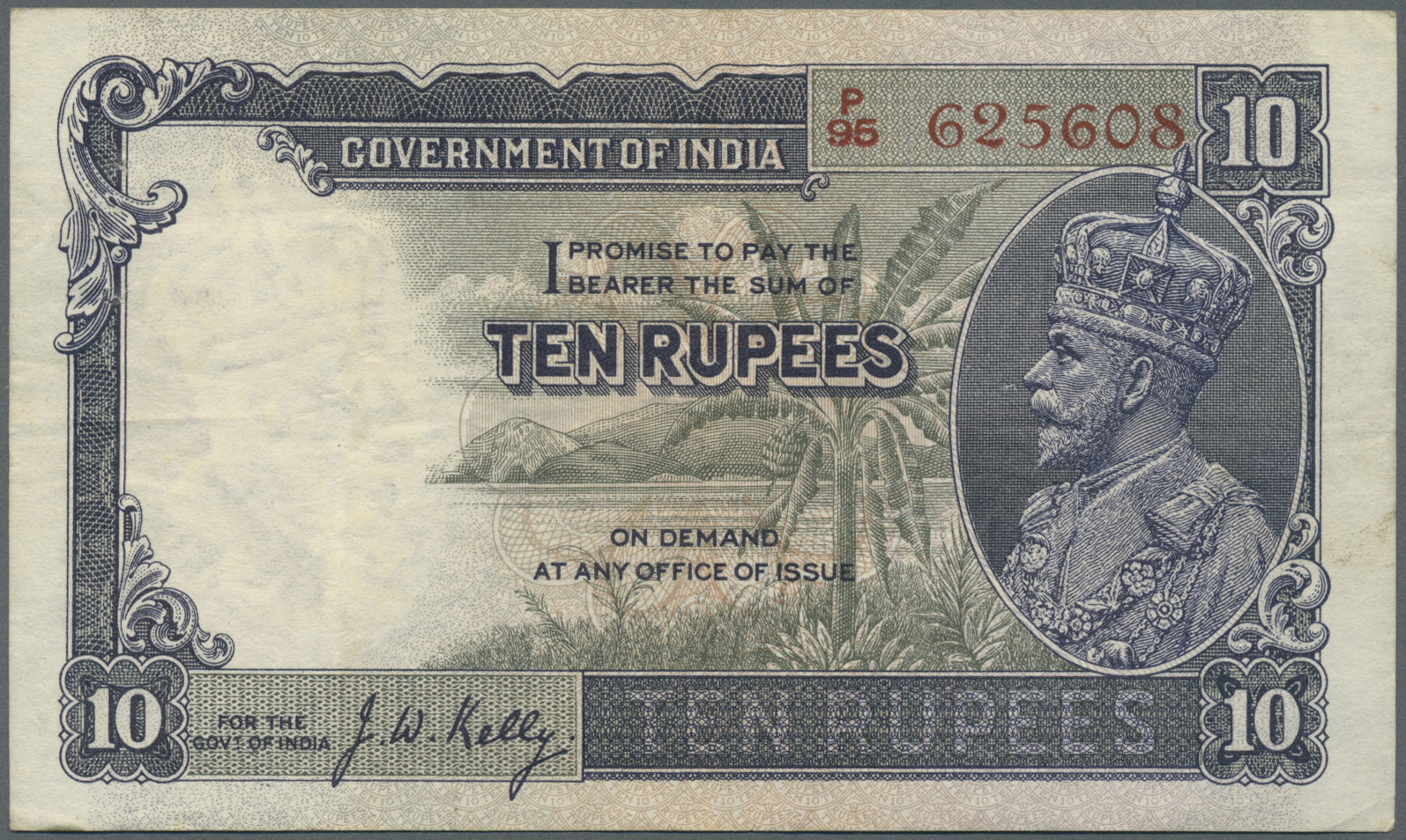 Lot 825 - India / Indien | Banknoten  -  Auktionshaus Christoph Gärtner GmbH & Co. KG Banknotes Worldwide Auction #39 Day 1