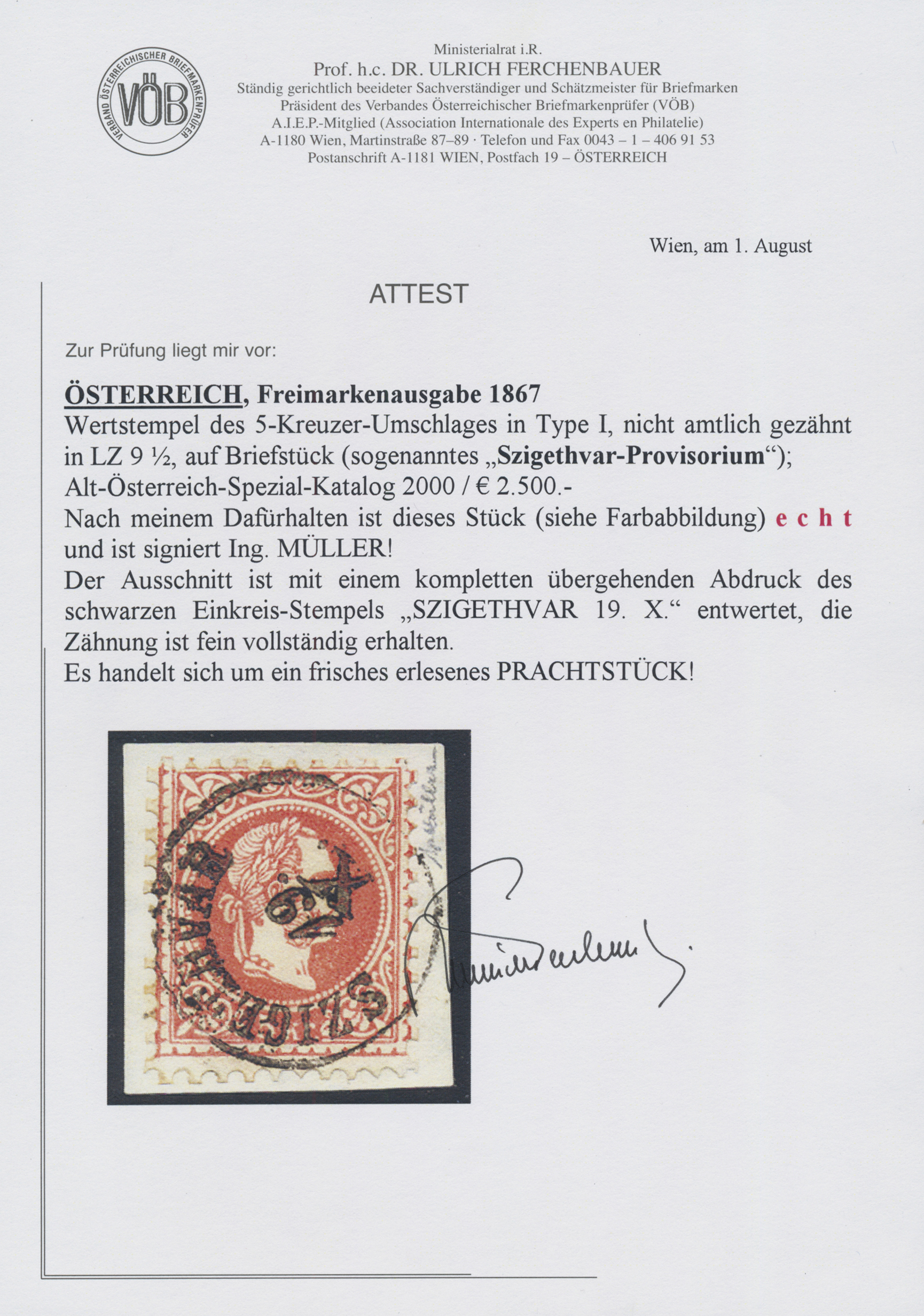 Lot 00016 - österreich  -  Auktionshaus Christoph Gärtner GmbH & Co. KG Intenational Rarities and contains lots from the collection of Peter Zgonc