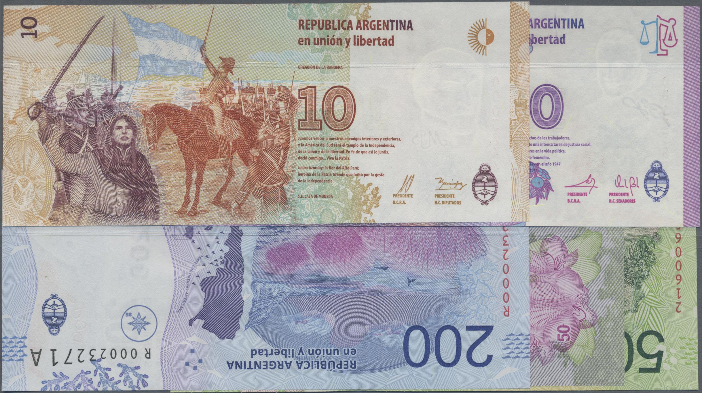 Lot 00013 - Argentina / Argentinien | Banknoten  -  Auktionshaus Christoph Gärtner GmbH & Co. KG 51th Auction - Day 1