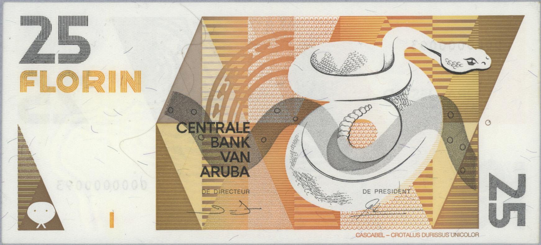 Aruba  5 Florin p-6 1990 UNC Banknote