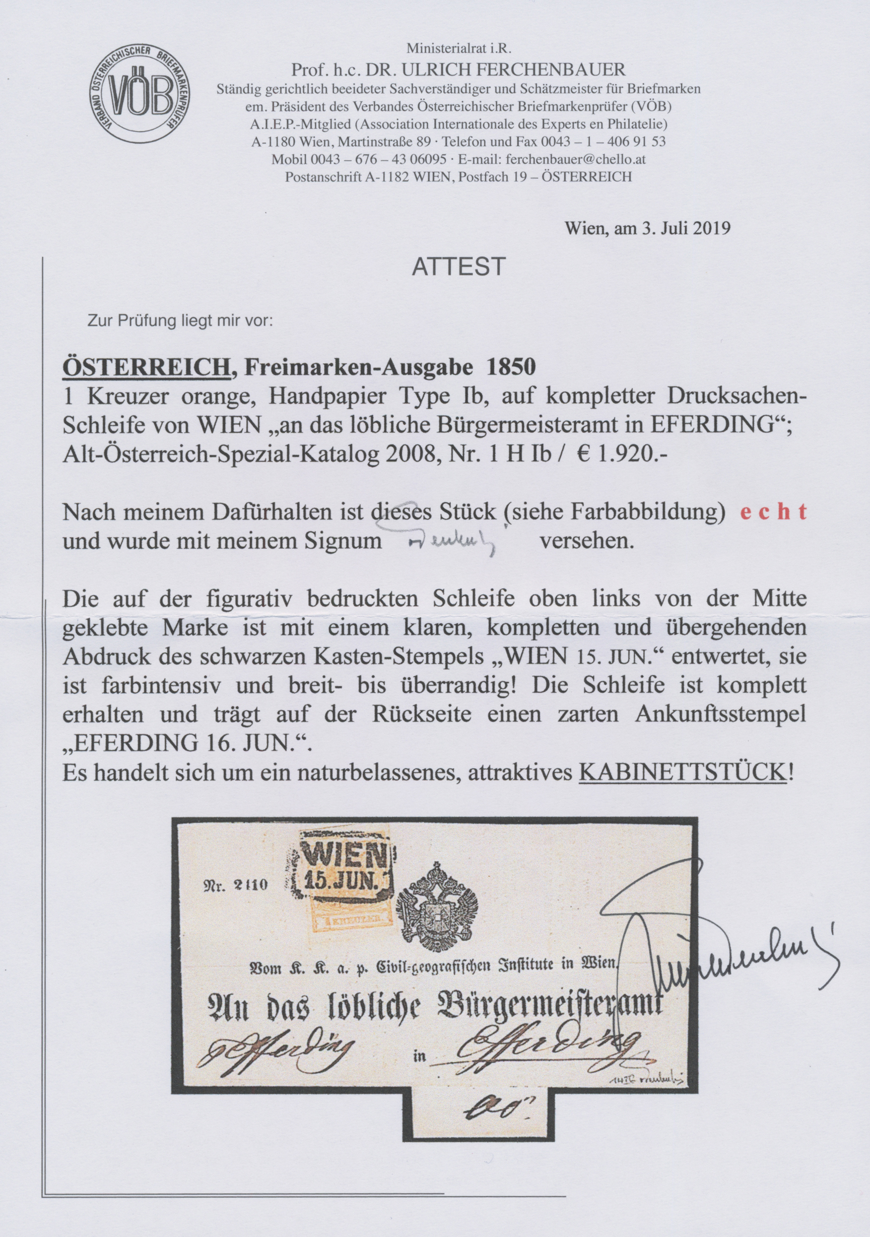 Lot 00010 - österreich  -  Auktionshaus Christoph Gärtner GmbH & Co. KG Intenational Rarities and contains lots from the collection of Peter Zgonc