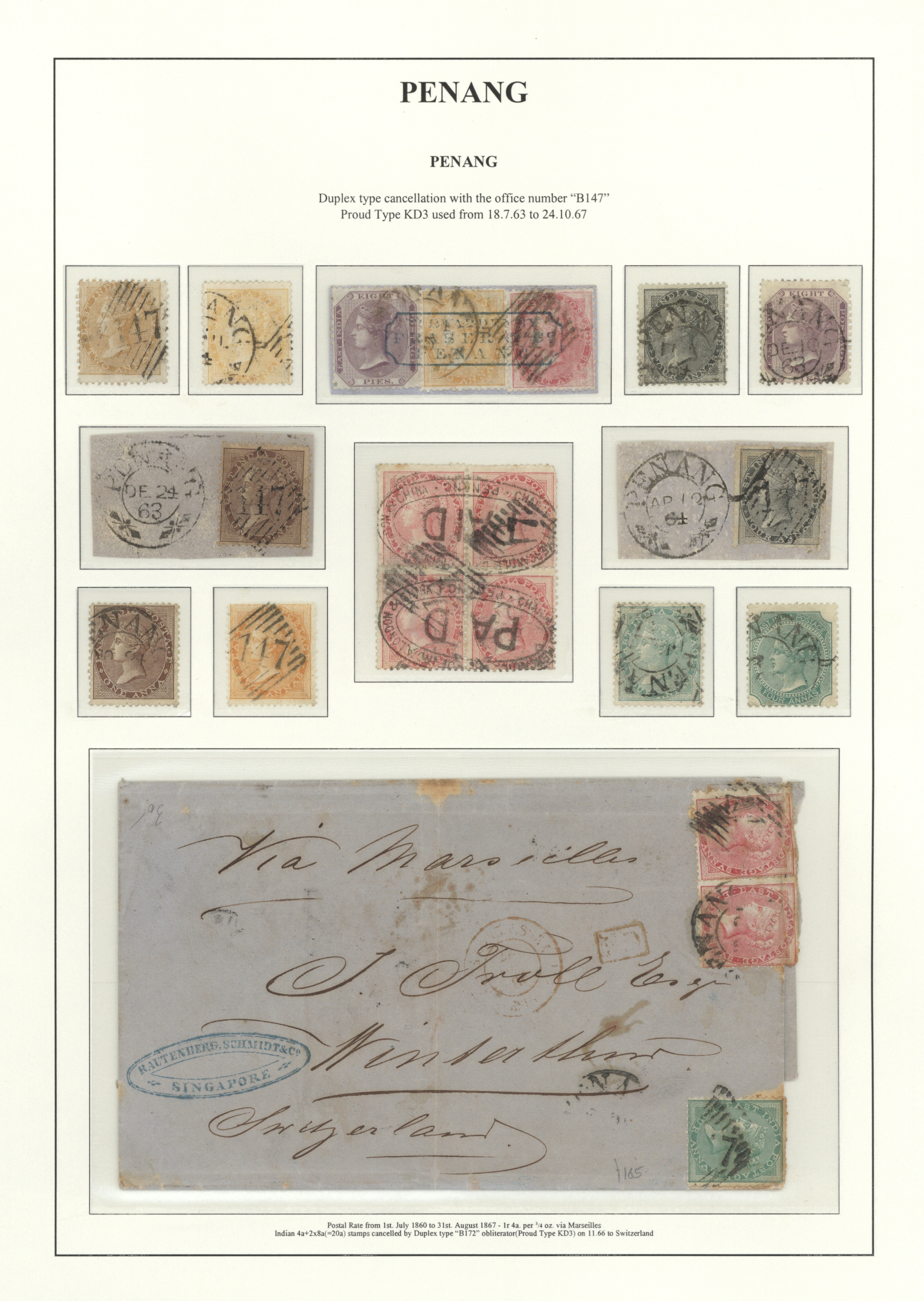Lot 9479 - Malaiische Staaten - Penang  -  Auktionshaus Christoph Gärtner GmbH & Co. KG Philately: ASIA single lots including Special Catalog Malaya Auction #39 Day 3