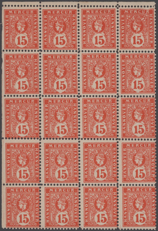 Lot 23424 - Deutsches Reich - Privatpost (Stadtpost)  -  Auktionshaus Christoph Gärtner GmbH & Co. KG 50th Auction Anniversary Auction - Day 7