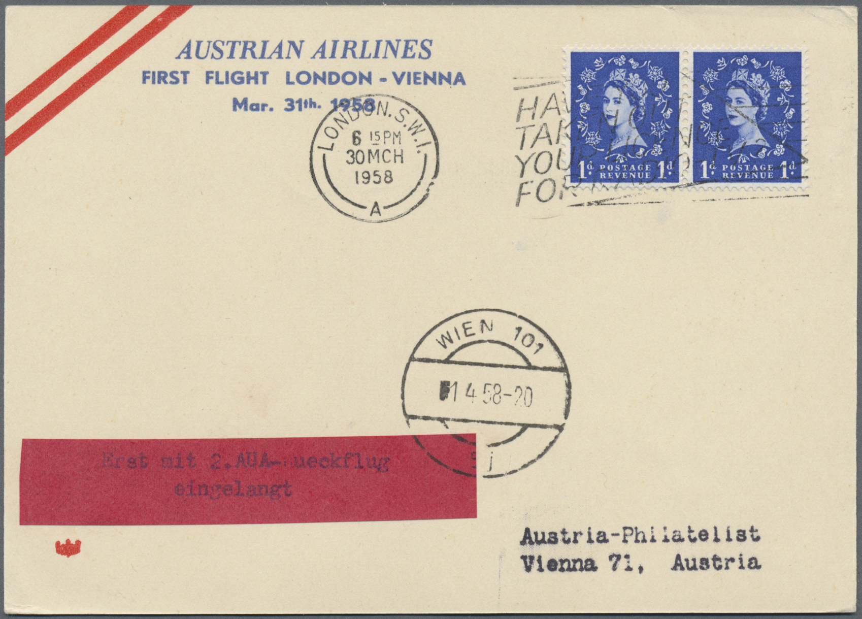 Lot 35023 - österreich - flugpost  -  Auktionshaus Christoph Gärtner GmbH & Co. KG Sale #44 Collections Germany