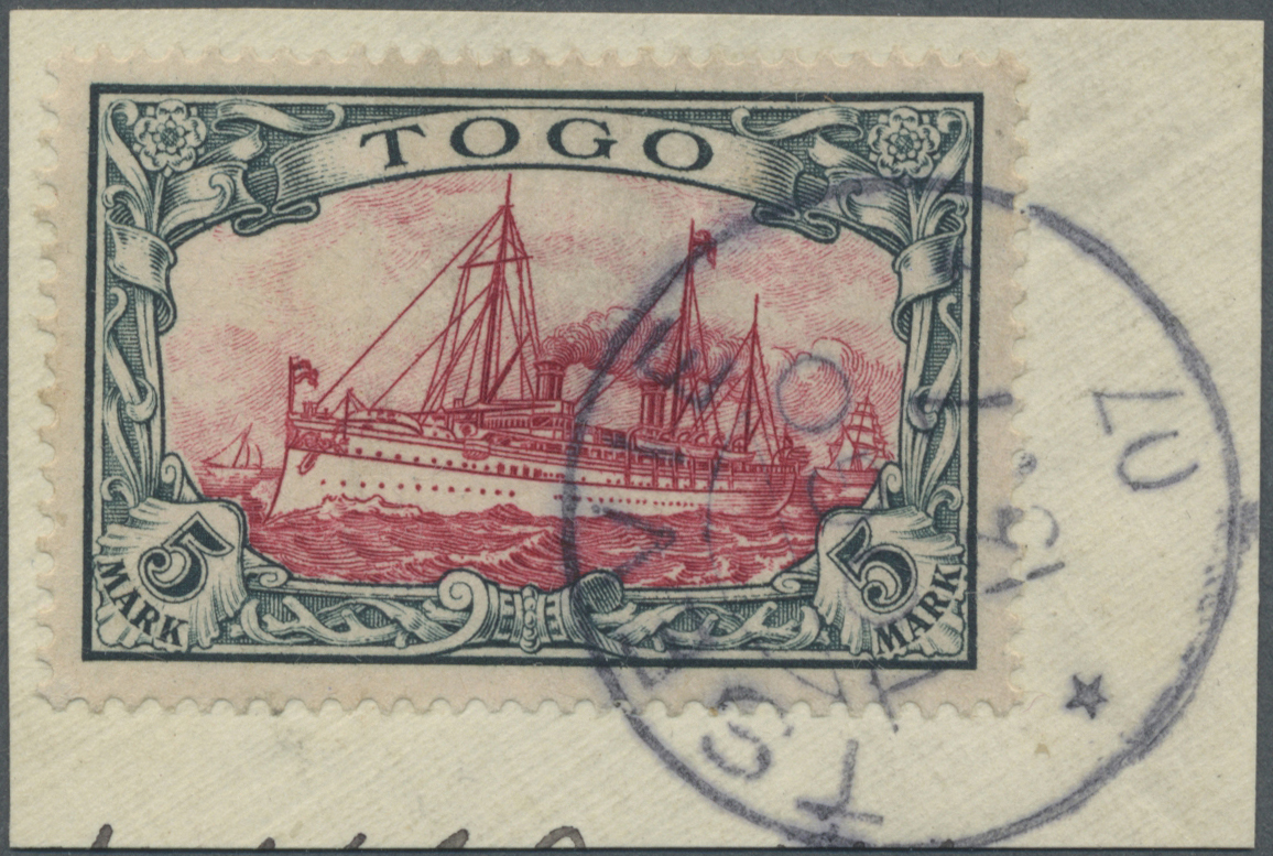Lot 22582 - Deutsche Kolonien - Togo  -  Auktionshaus Christoph Gärtner GmbH & Co. KG Single lots Germany + Picture Postcards. Auction #39 Day 5