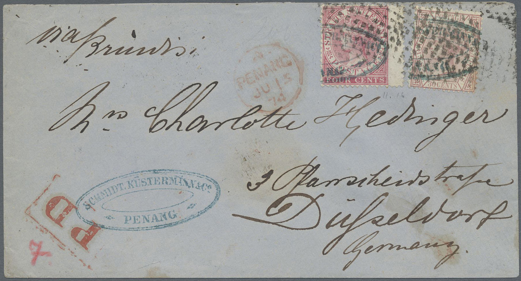Lot 9485 - Malaiische Staaten - Penang  -  Auktionshaus Christoph Gärtner GmbH & Co. KG Philately: ASIA single lots including Special Catalog Malaya Auction #39 Day 3