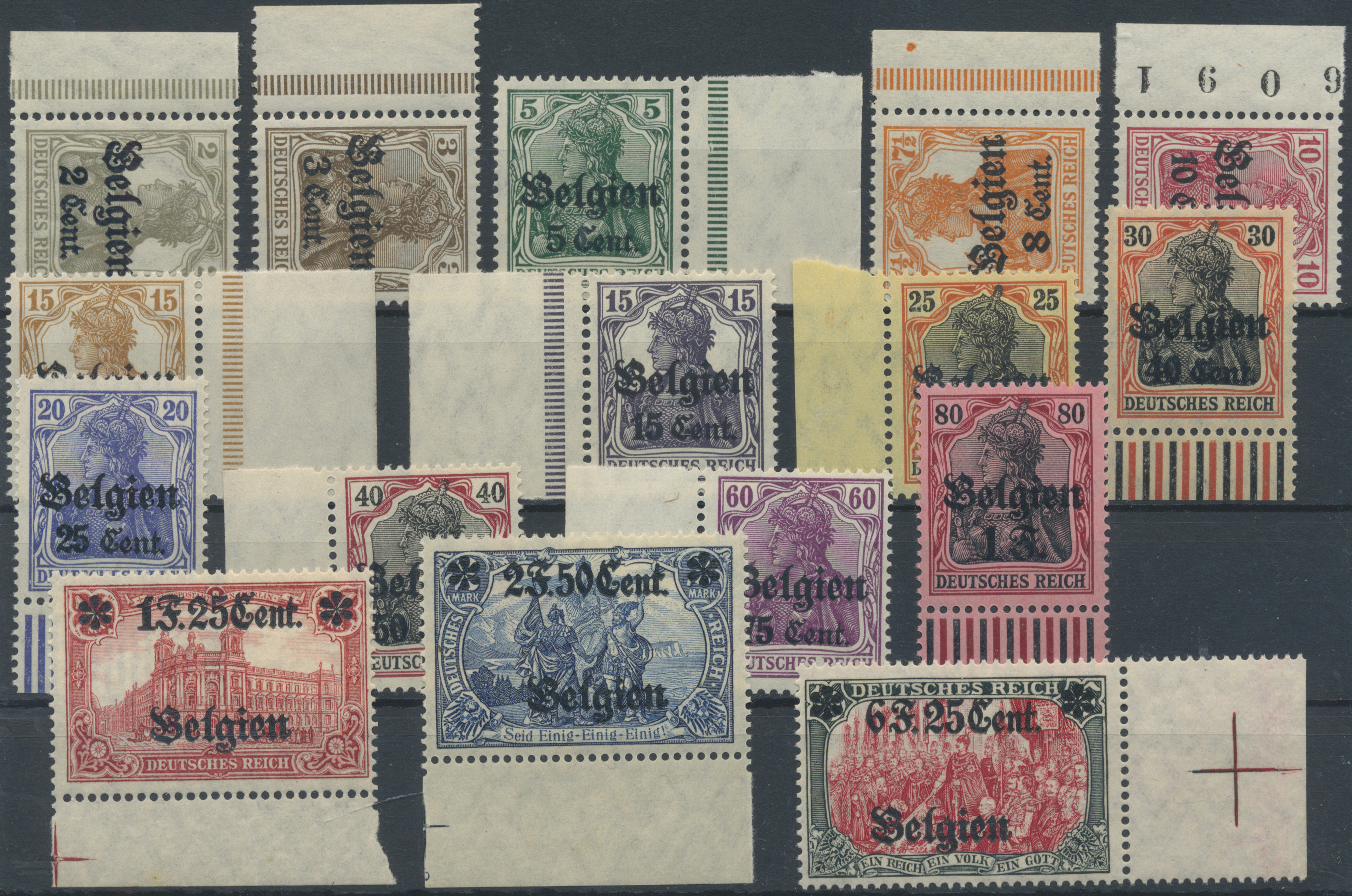 Lot 22630 - Deutsche Besetzung I. WK: Landespost in Belgien  -  Auktionshaus Christoph Gärtner GmbH & Co. KG Single lots Germany + Picture Postcards. Auction #39 Day 5