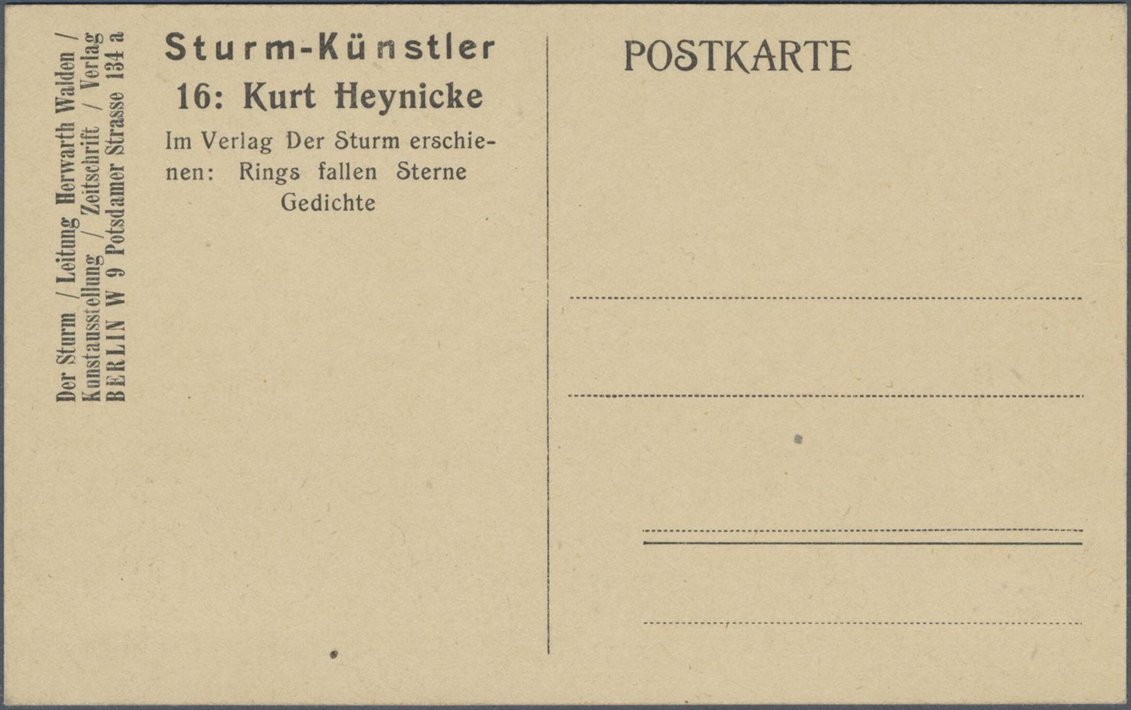Stamp Auction Ansichtskarten Künstler Artists Single