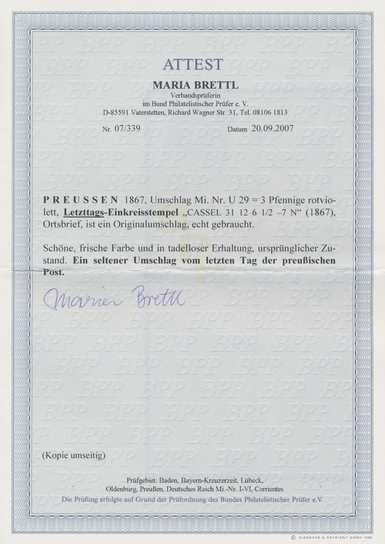 Lot 1238 - Preußen - Ganzsachen  -  Auktionshaus Christoph Gärtner GmbH & Co. KG Auction #41 Special auction part two