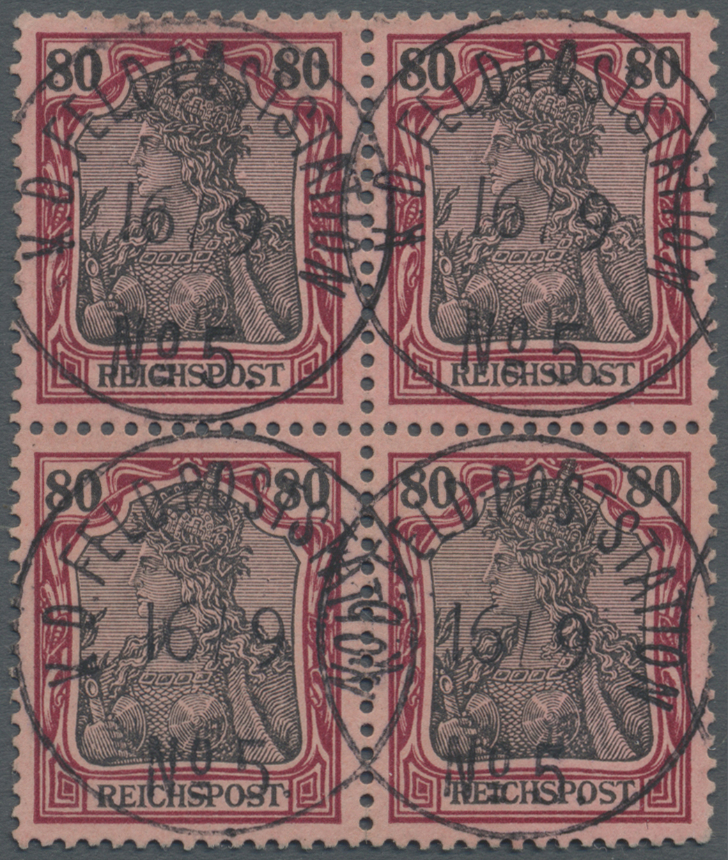 Lot 21898 - Deutsche Post in China - Mitläufer  -  Auktionshaus Christoph Gärtner GmbH & Co. KG Single lots Germany + Picture Postcards. Auction #39 Day 5