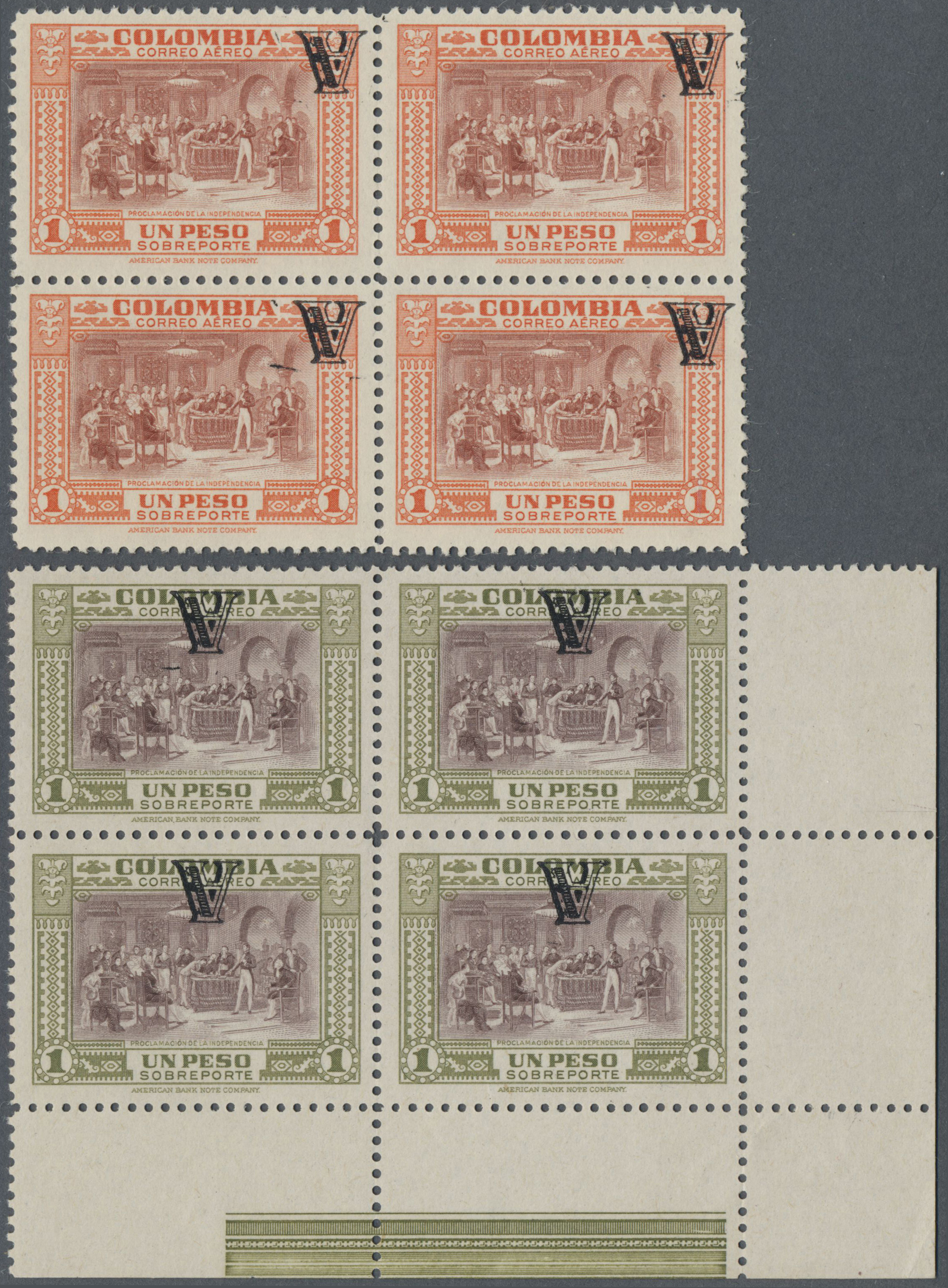 Lot 13943 - kolumbien  -  Auktionshaus Christoph Gärtner GmbH & Co. KG Single lots Philately Overseas & Europe. Auction #39 Day 4
