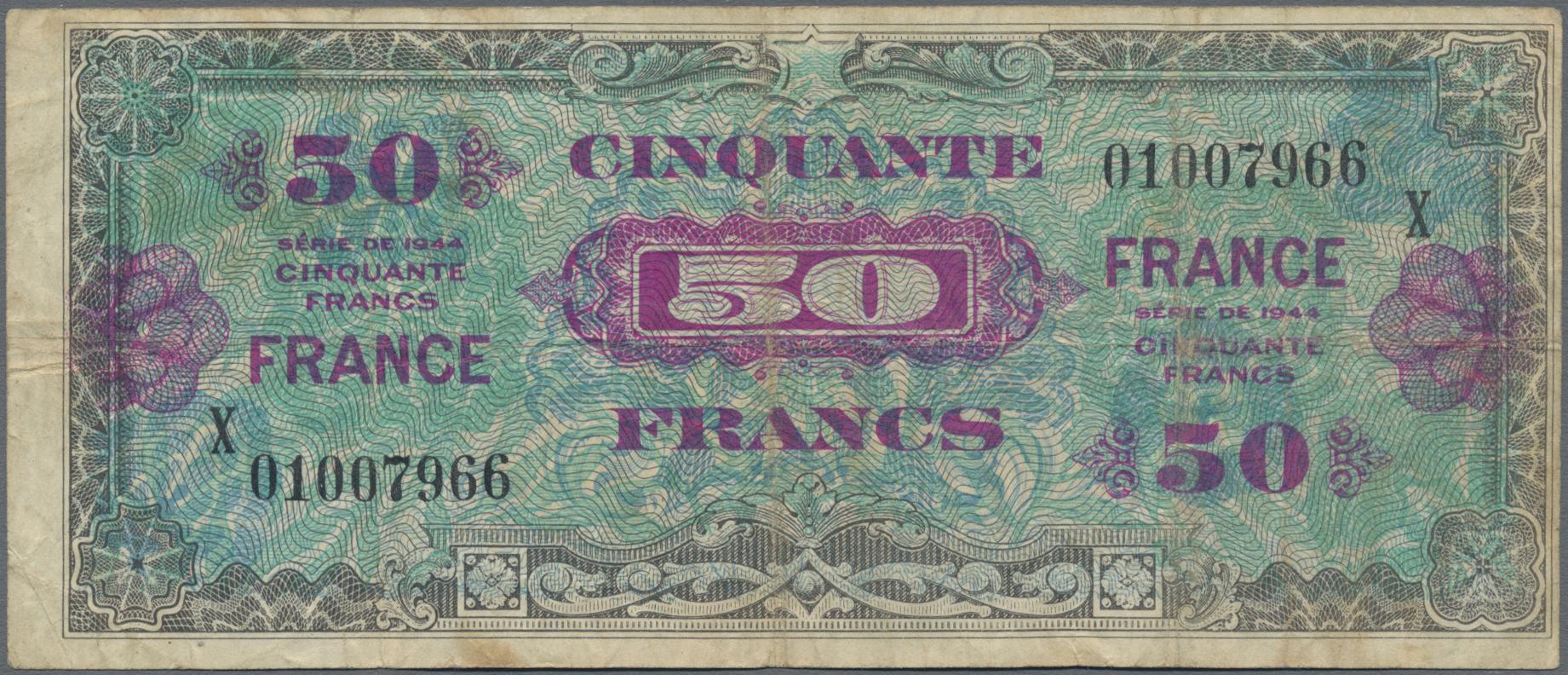 Lot 00312 - France / Frankreich | Banknoten  -  Auktionshaus Christoph Gärtner GmbH & Co. KG Sale #48 The Banknotes