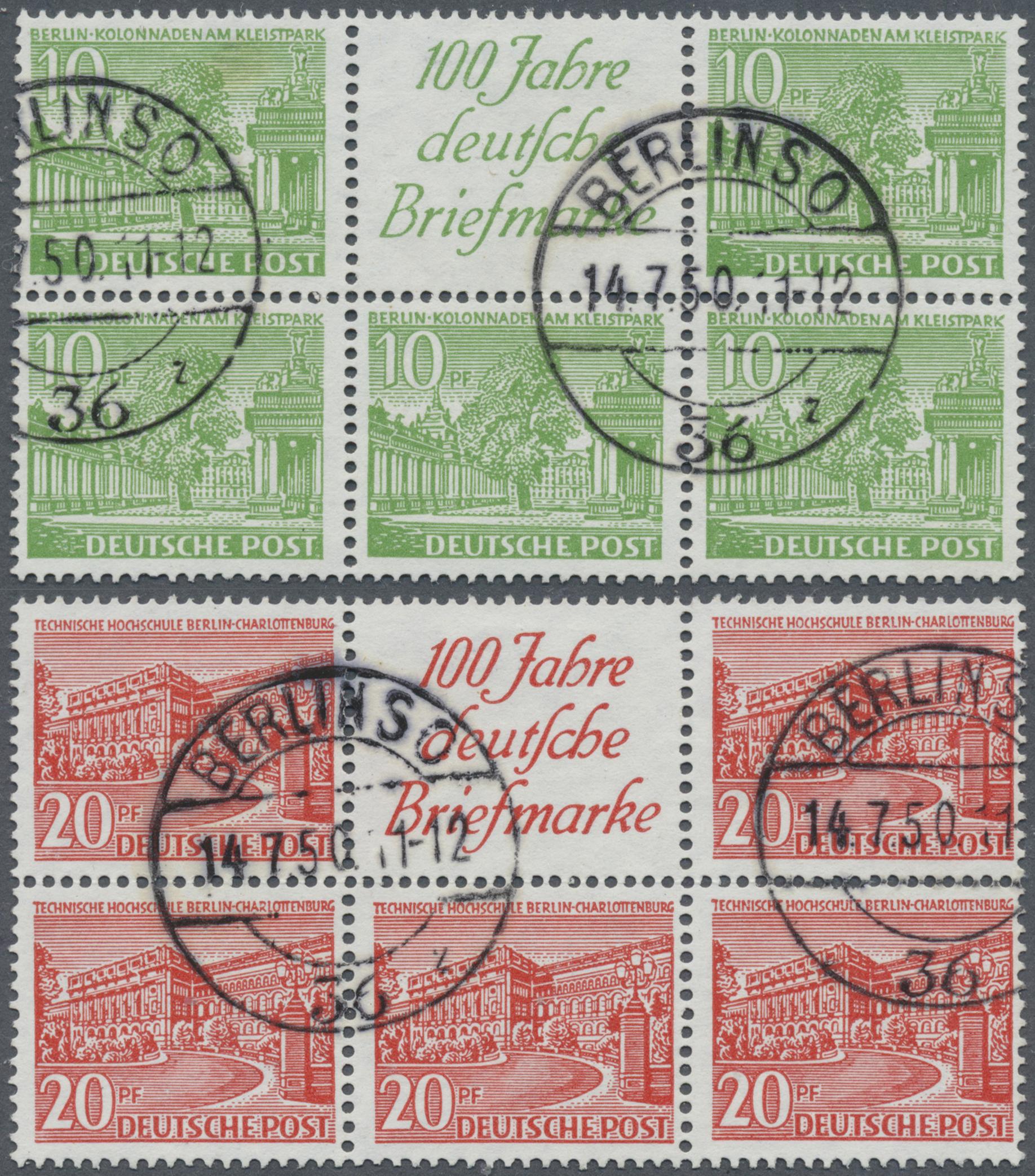 Lot 32541 - berlin - zusammendrucke  -  Auktionshaus Christoph Gärtner GmbH & Co. KG Auction #40 Collections Germany, Wunderkartons