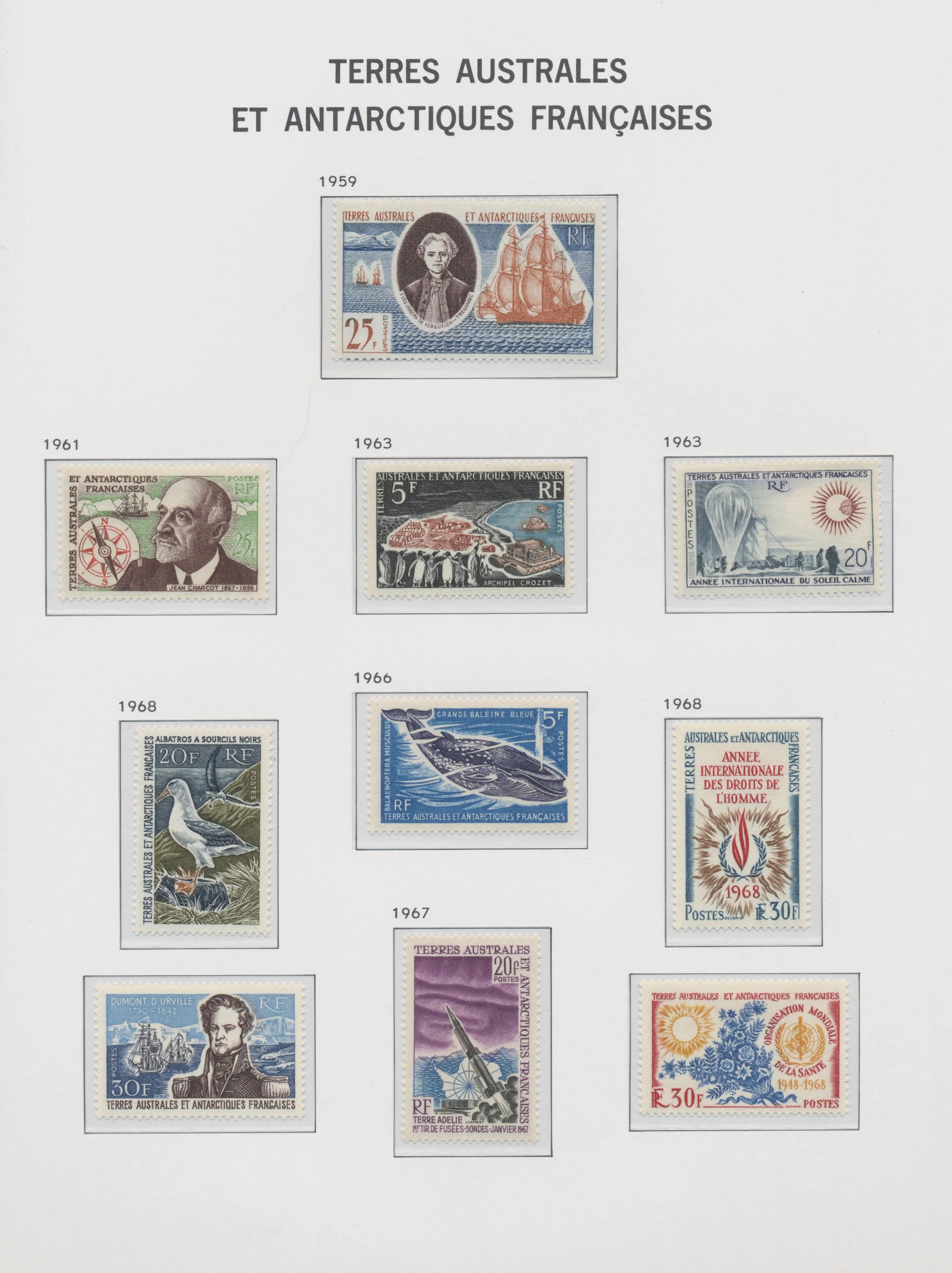 Lot 34634 - französische gebiete in der antarktis  -  Auktionshaus Christoph Gärtner GmbH & Co. KG Sale #44 Collections Germany
