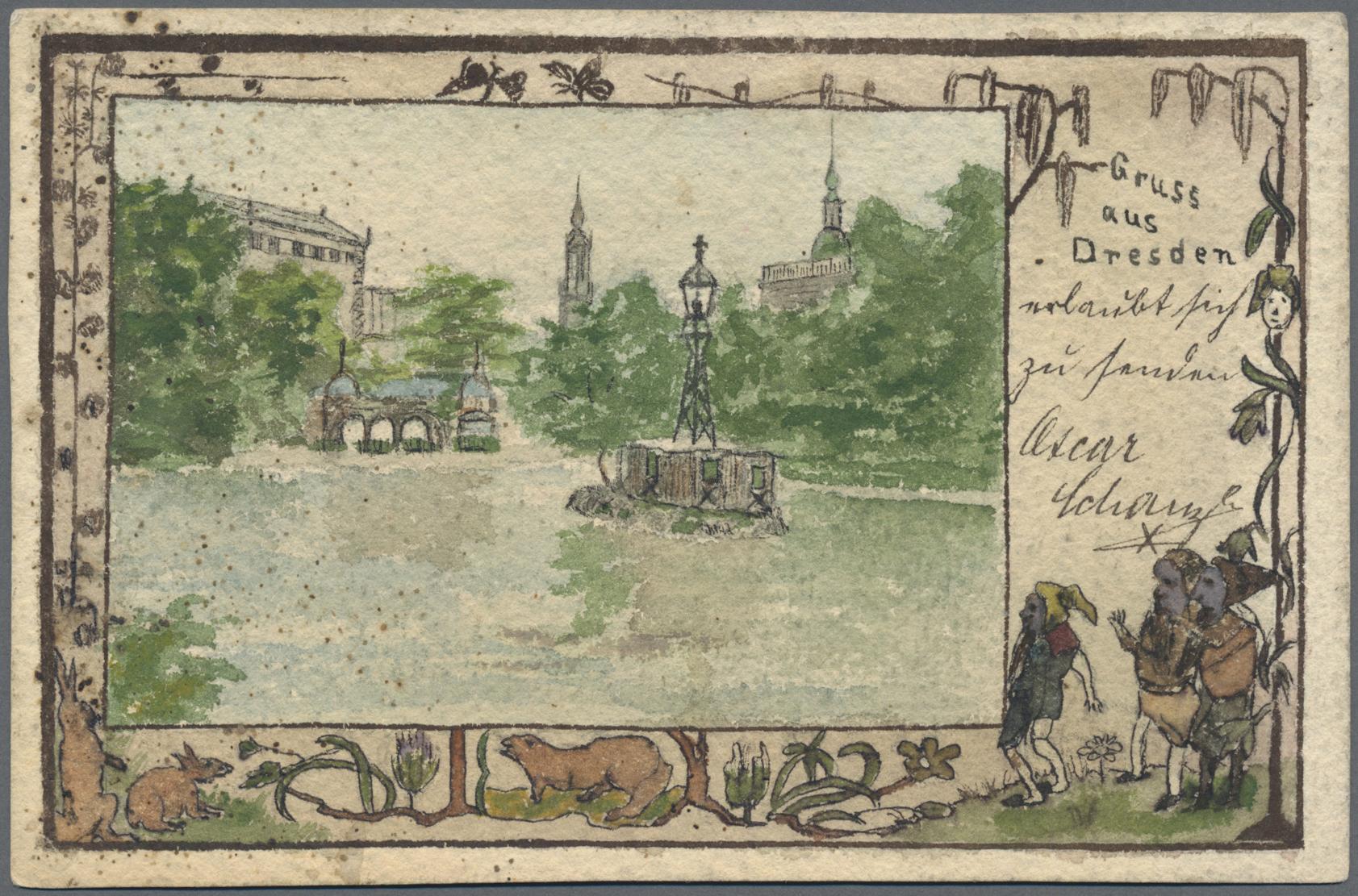 Lot 04592 - Ansichtskarten: Sachsen  -  Auktionshaus Christoph Gärtner GmbH & Co. KG Sale #48 The Coins & The Picture Post Cards