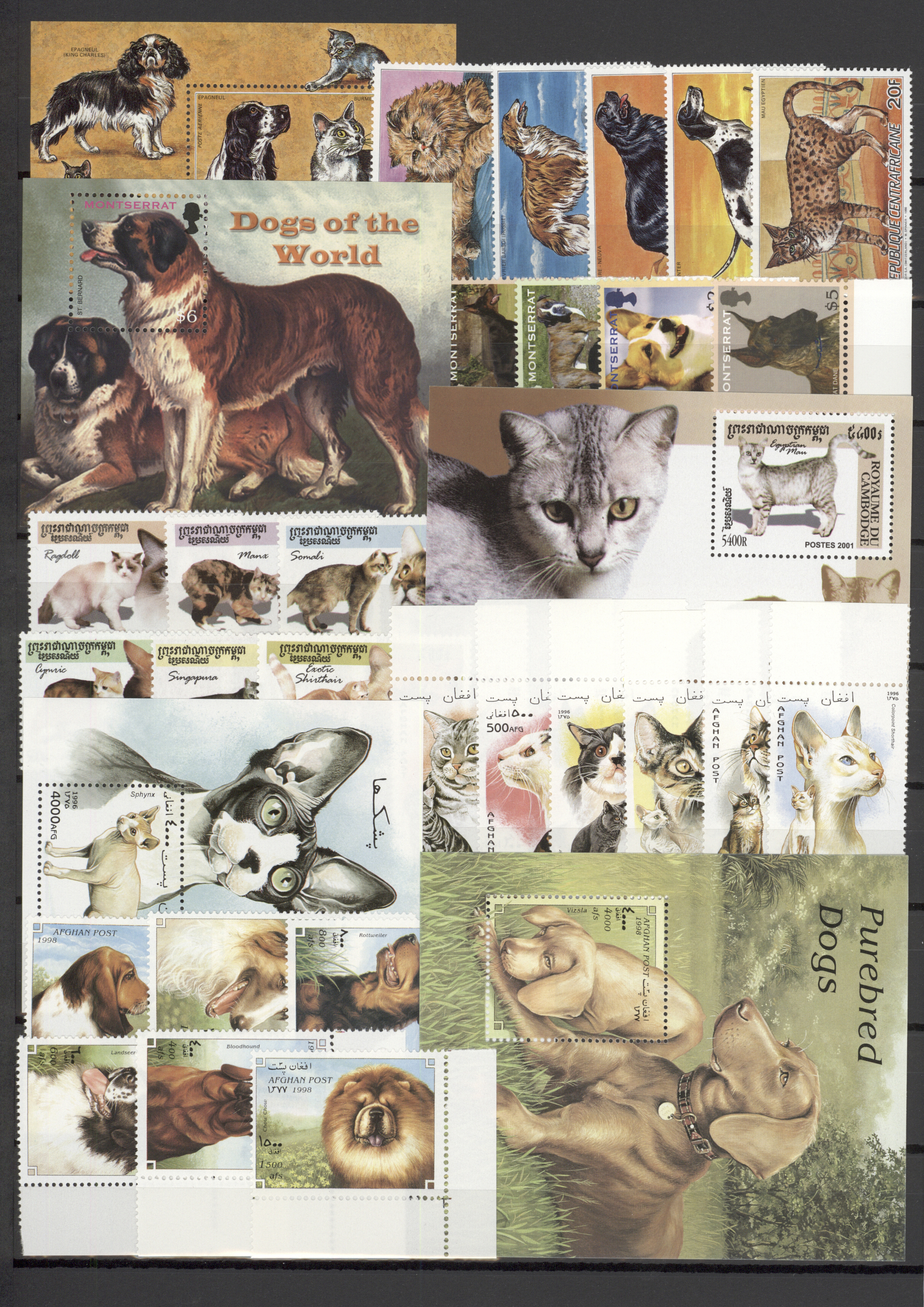 Stamp Auction - thematik: tiere-hunde / animals-dogs