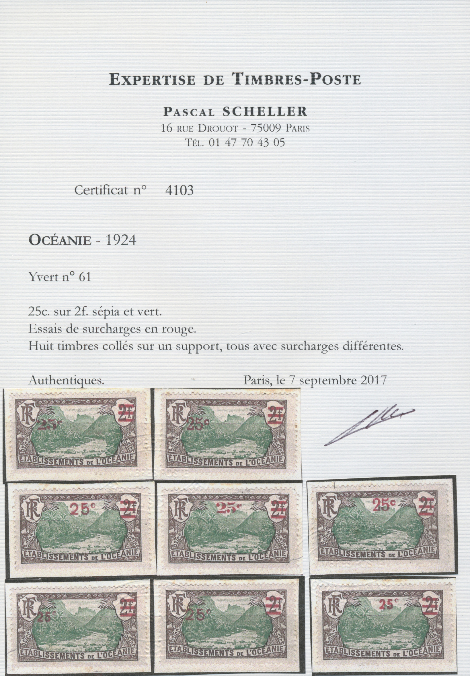 Lot 13745 - französisch-ozeanien  -  Auktionshaus Christoph Gärtner GmbH & Co. KG Single lots Philately Overseas & Europe. Auction #39 Day 4
