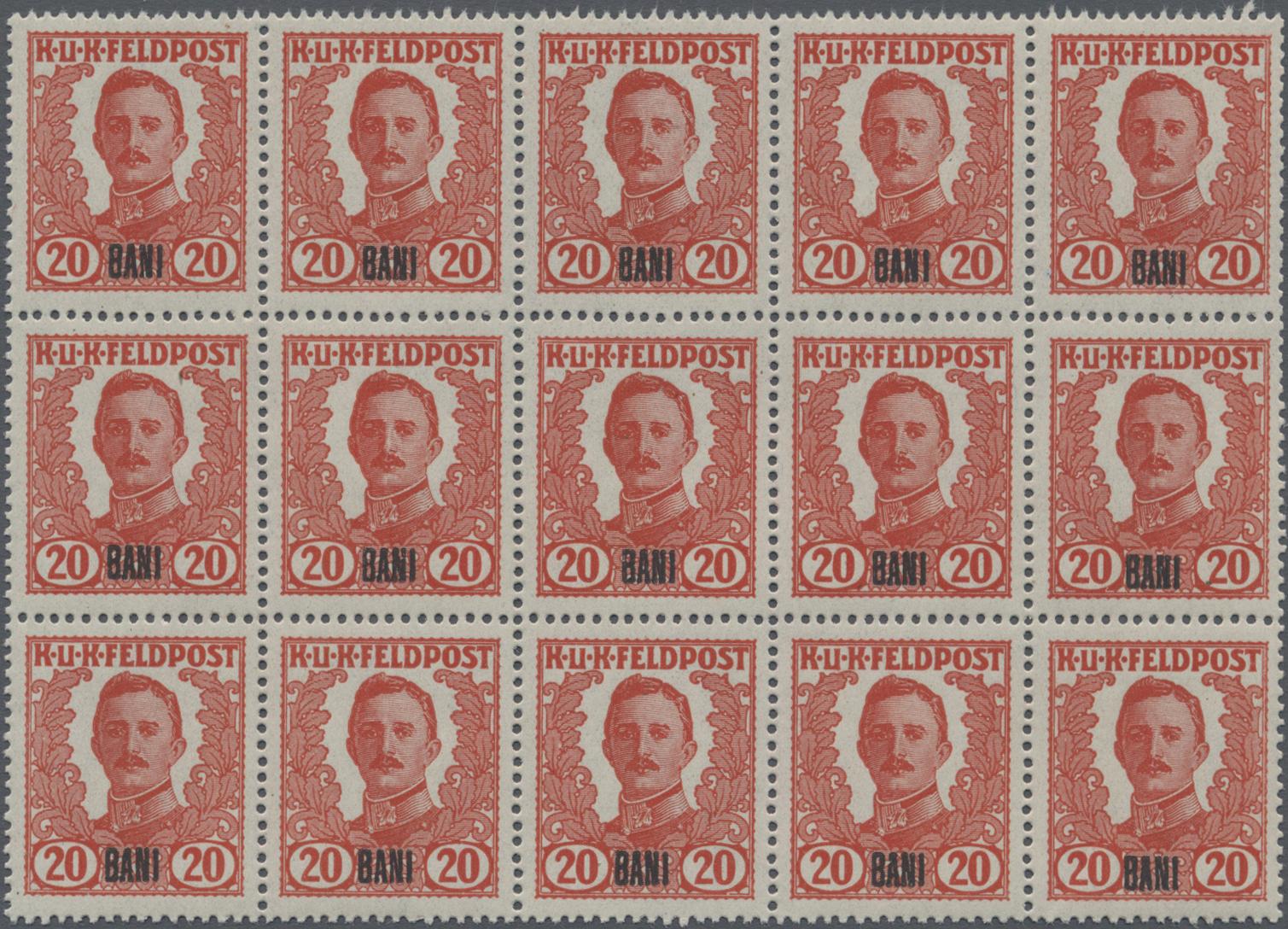 Lot 09610 - Österreichisch-Ungarische Feldpost - Rumänien  -  Auktionshaus Christoph Gärtner GmbH & Co. KG Sale #48 The Single Lots Philatelie