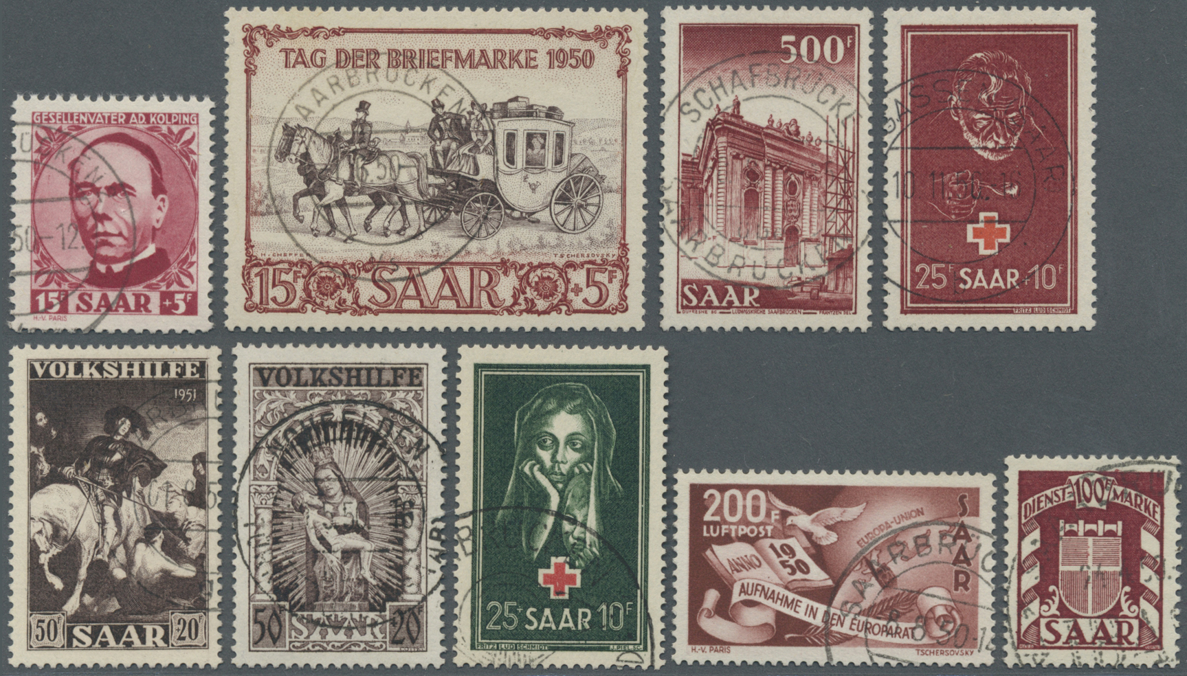 Lot 38269 - Saarland und OPD Saarbrücken  -  Auktionshaus Christoph Gärtner GmbH & Co. KG Collections Germany,  Collections Supplement, Surprise boxes #39 Day 7