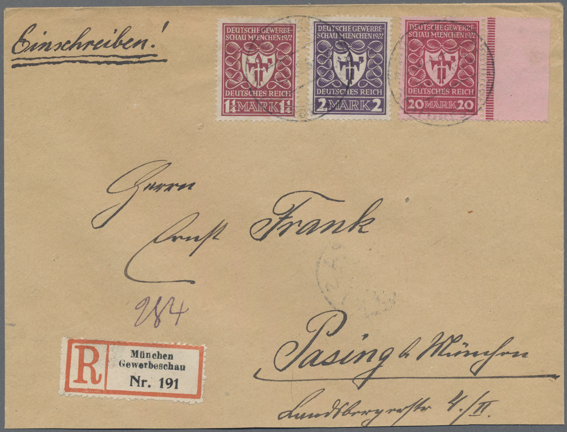 Lot 36618 - Deutsches Reich - Inflation  -  Auktionshaus Christoph Gärtner GmbH & Co. KG Sale #44 Collections Germany
