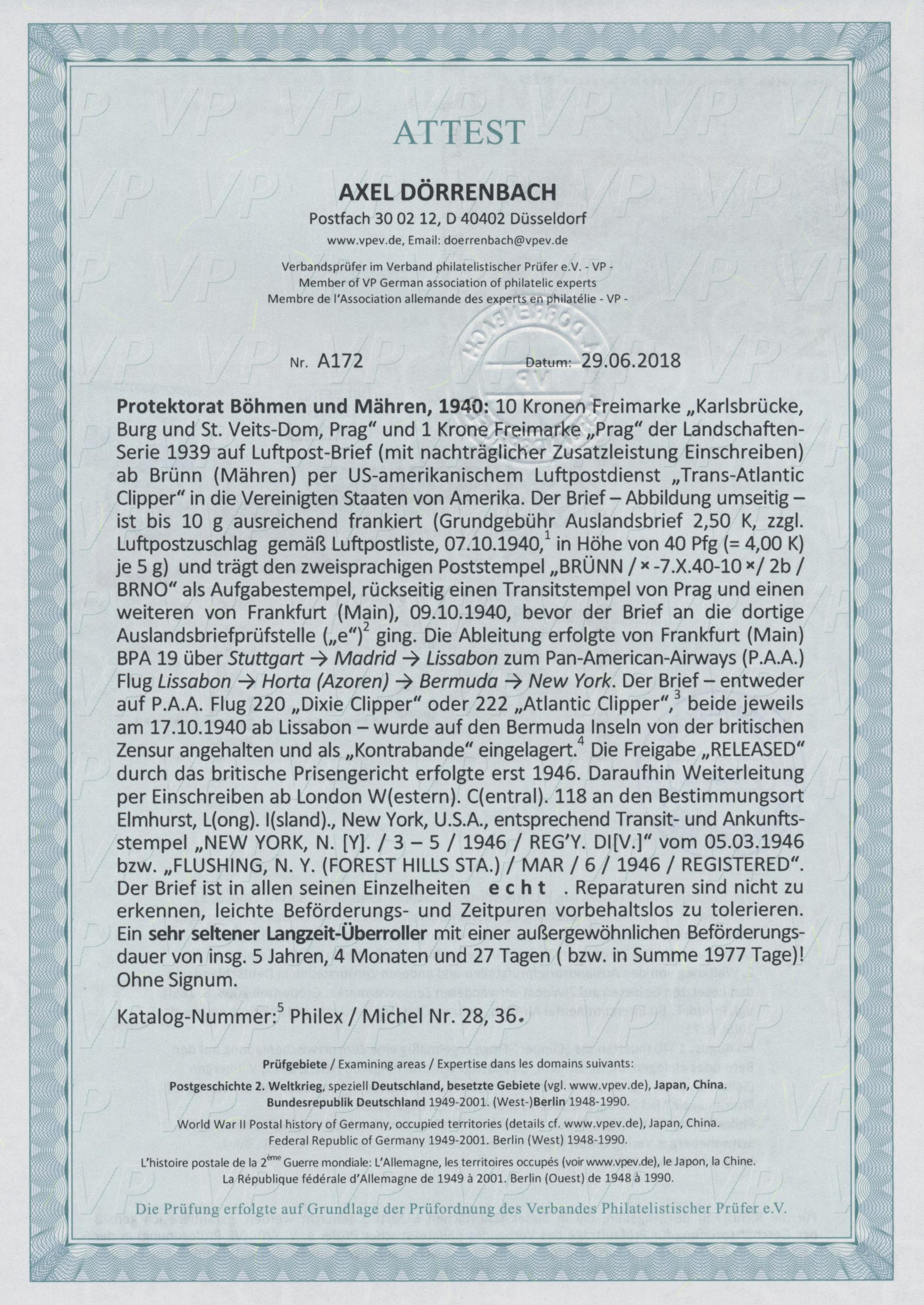Lot 1387 - Dt. Besetzung II WK - Böhmen und Mähren  -  Auktionshaus Christoph Gärtner GmbH & Co. KG Auction #41 Special auction part two