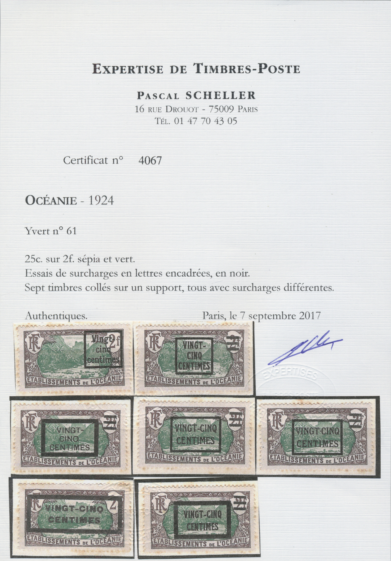 Lot 13743 - französisch-ozeanien  -  Auktionshaus Christoph Gärtner GmbH & Co. KG Single lots Philately Overseas & Europe. Auction #39 Day 4