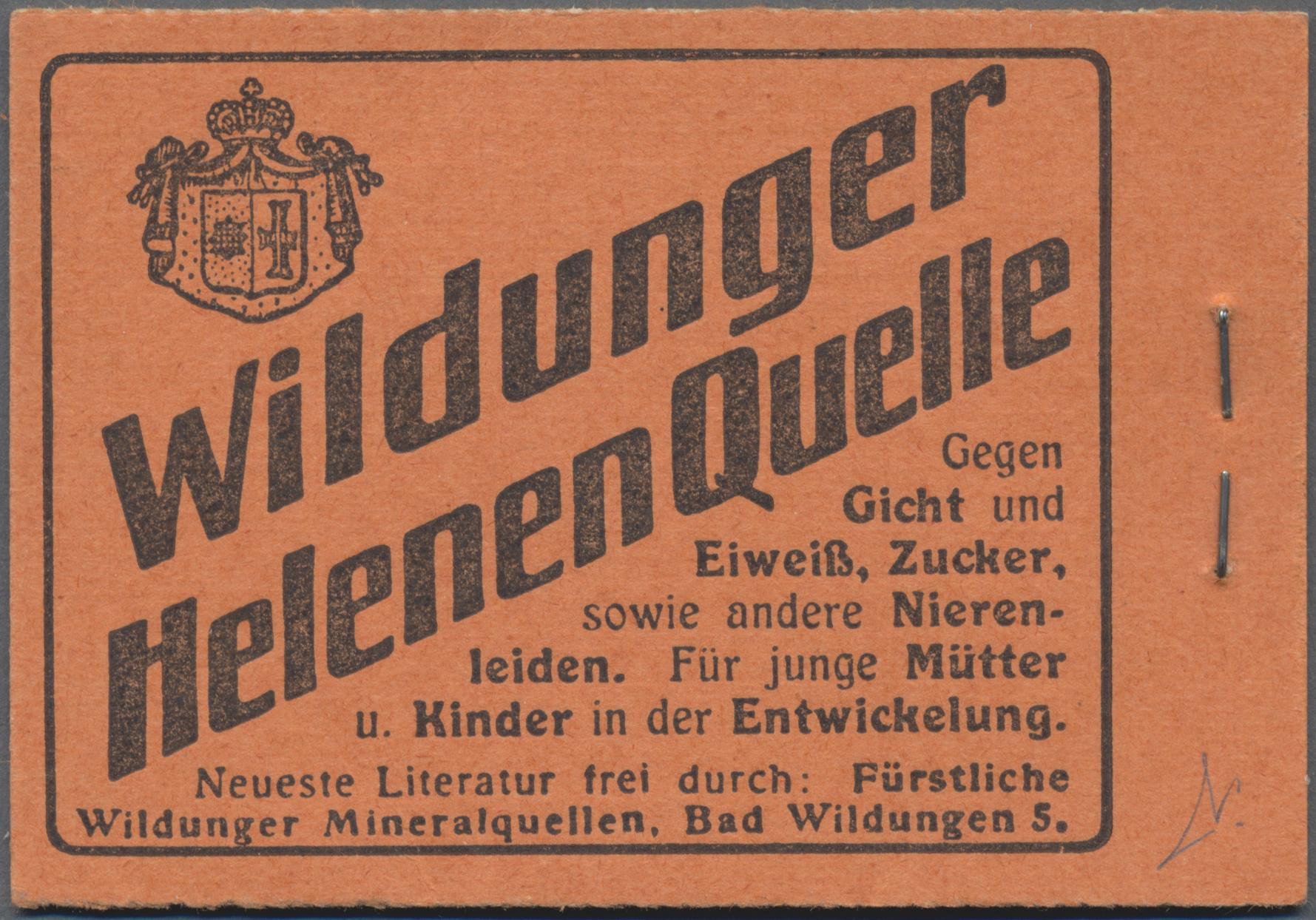 Lot 863 - Deutsches Reich - Markenheftchen - Auktionshaus Christoph Gärtner  GmbH & Co. KG