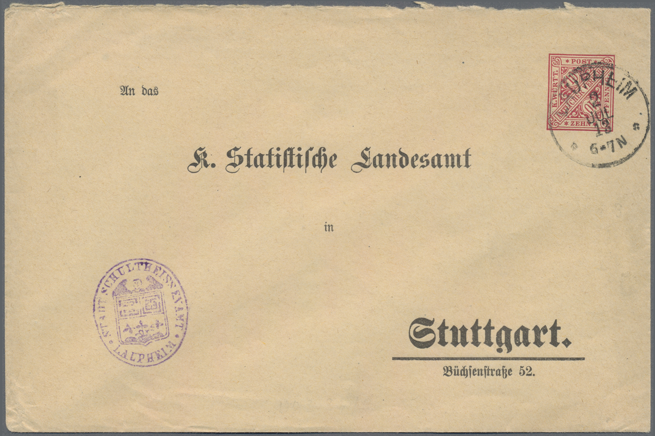Lot 36355 - württemberg - ganzsachen  -  Auktionshaus Christoph Gärtner GmbH & Co. KG Sale #44 Collections Germany
